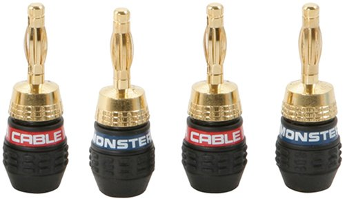 Đầu bắp chuối Monster Cable QuickLock MKII Gold (4 cái)