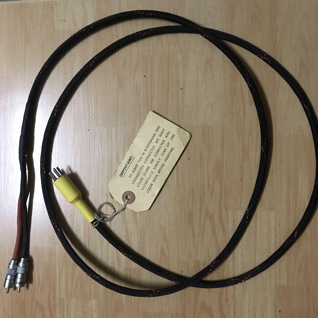 Dây phono tonearm vintage cho mâm than (5 pin ra RCA), 2m