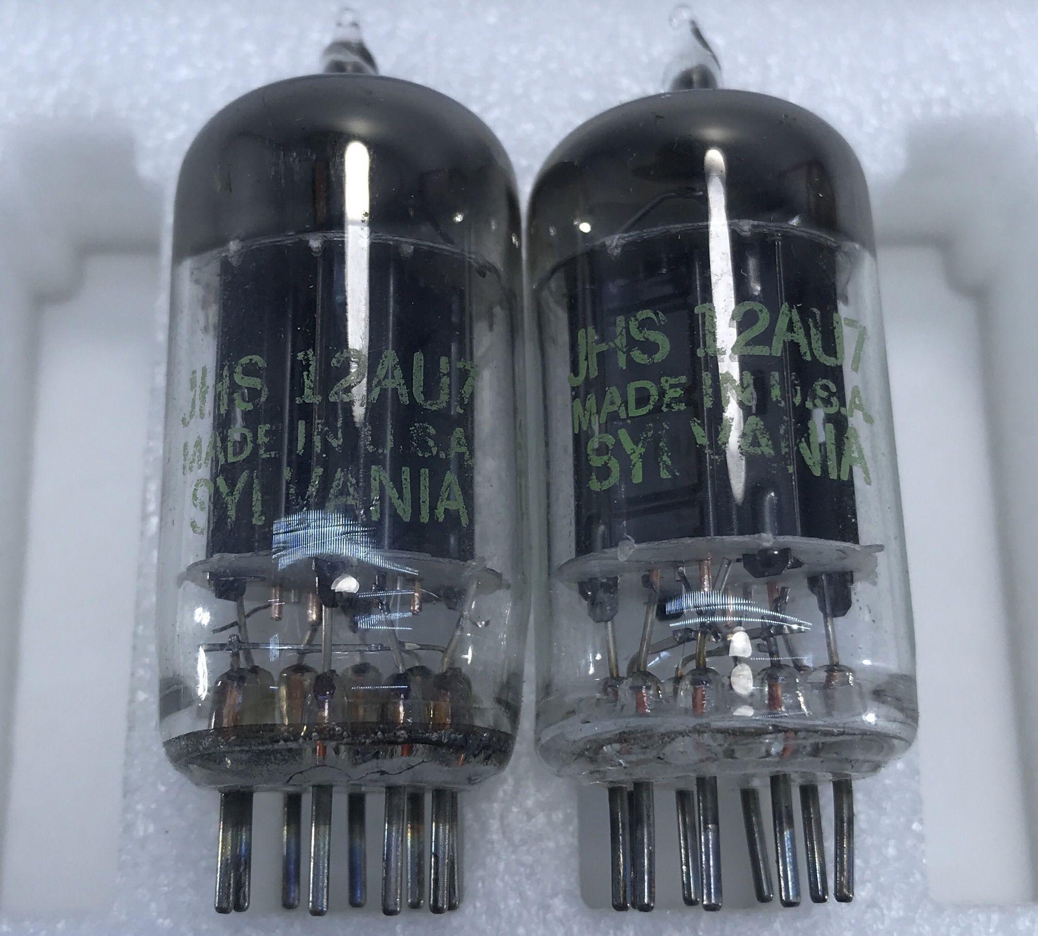 Cặp bóng JHS Sylvania 12AU7, 17mm, square getter
