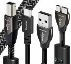 Dây USB Audioquest DIAMOND A to B, micro-B 3.0, mini-B, Top-of-the-line | 0.75m, 3m