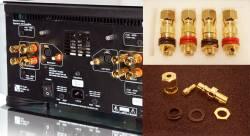 Bộ 4 cọc loa PS Audio nối bắp chuối, càng cua, dây trần (nâng cấp cho ampli)