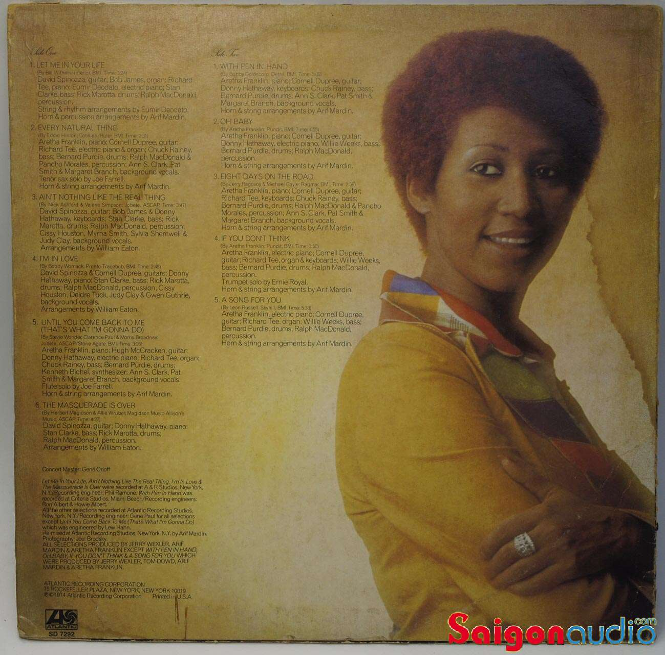 Đĩa than LP Aretha Franklin - Let Me In Your Life