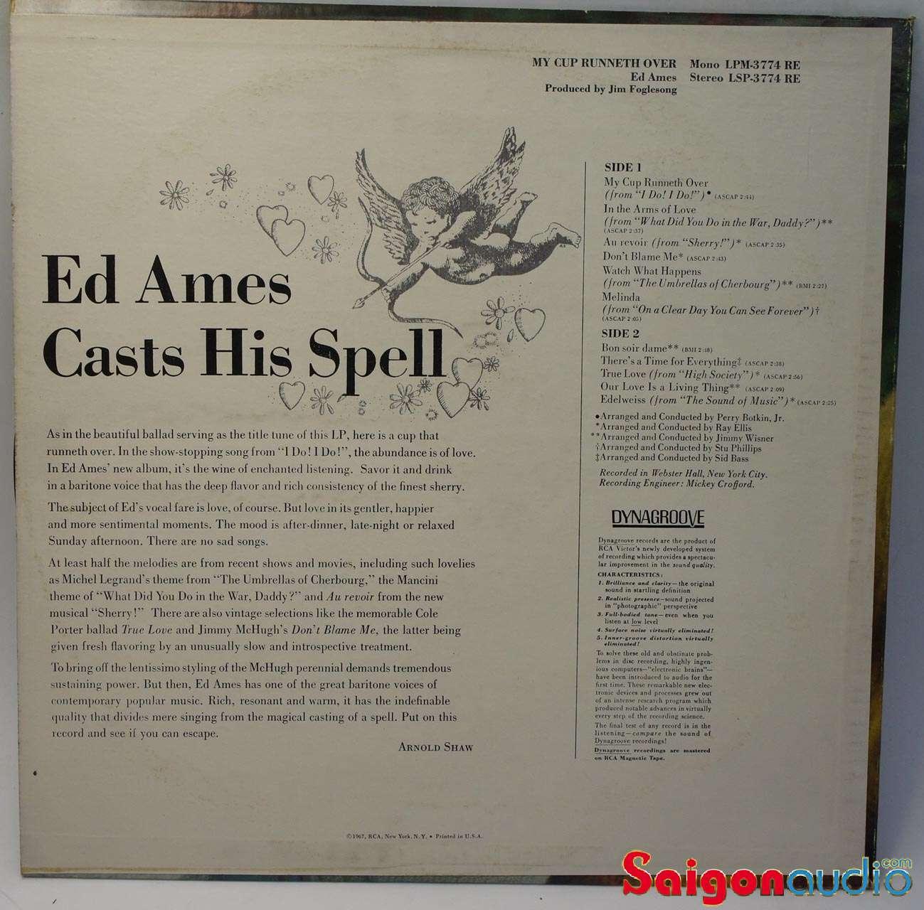 Đĩa than LP Ed Ames - My Cup Runneth Over