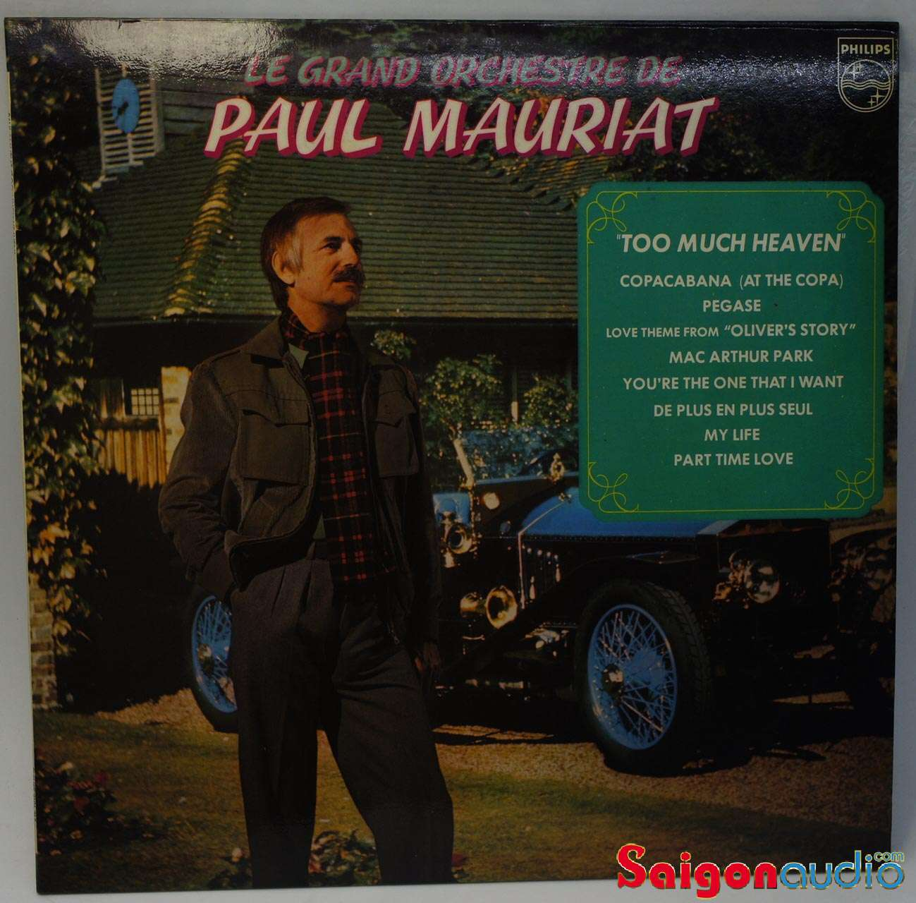 Đĩa than LP Le Grand Orchestre De Paul Mauriat ‎– Too Much Heaven