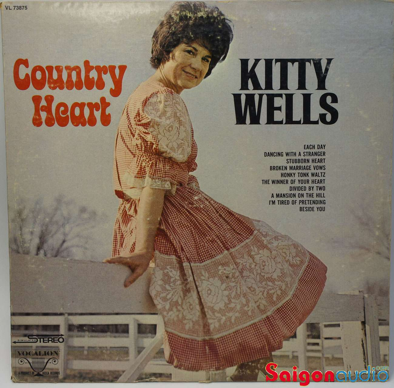 Đĩa than LP Kitty Wells - Country Heart (1969)