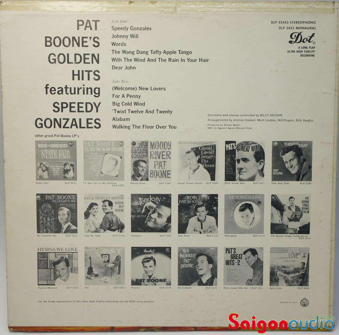 Đĩa than LP Pat Boone - Pat Boone s Golden Hits (1962)