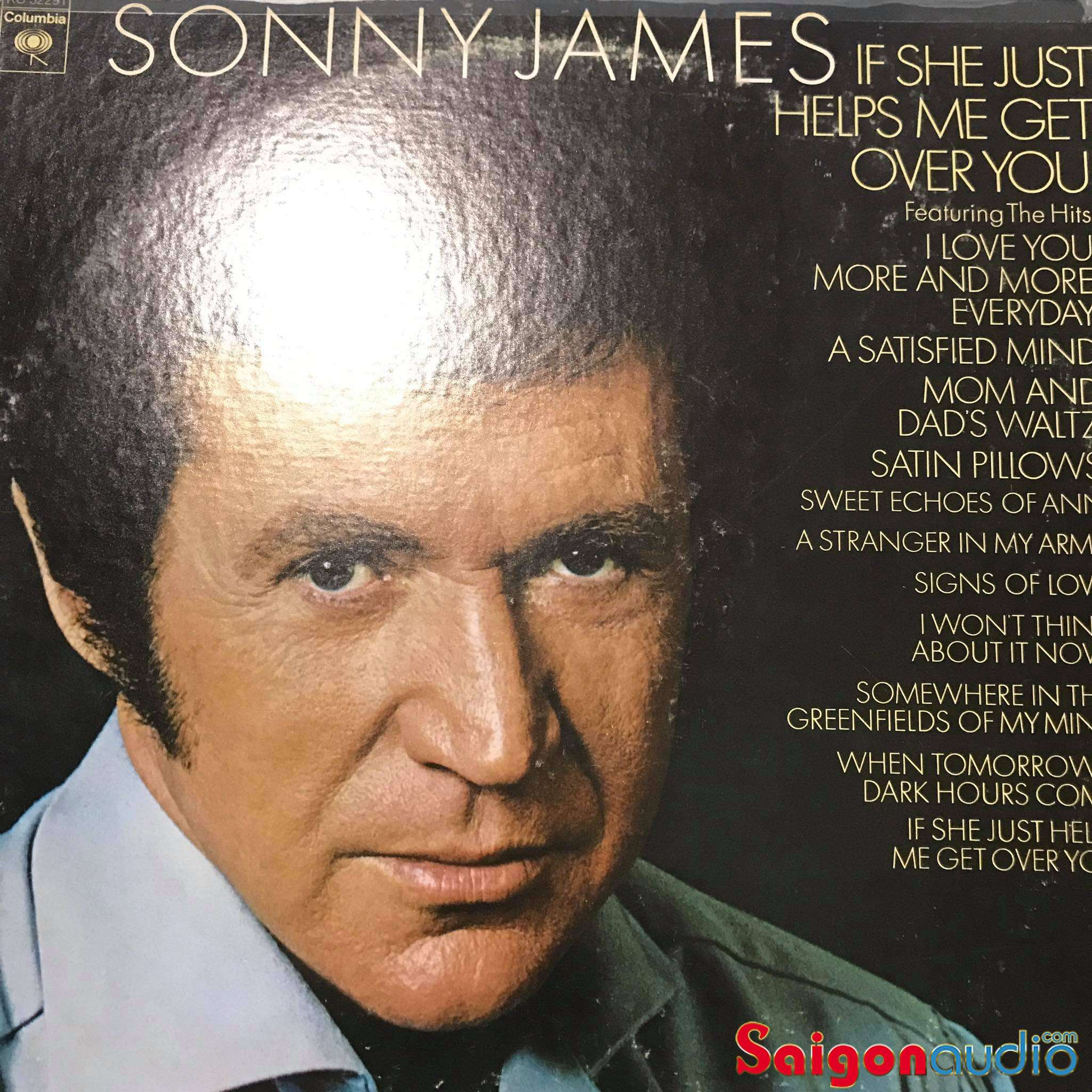 Đĩa than LP Sonny James - If She Just Helps Me Get Over You (1973)