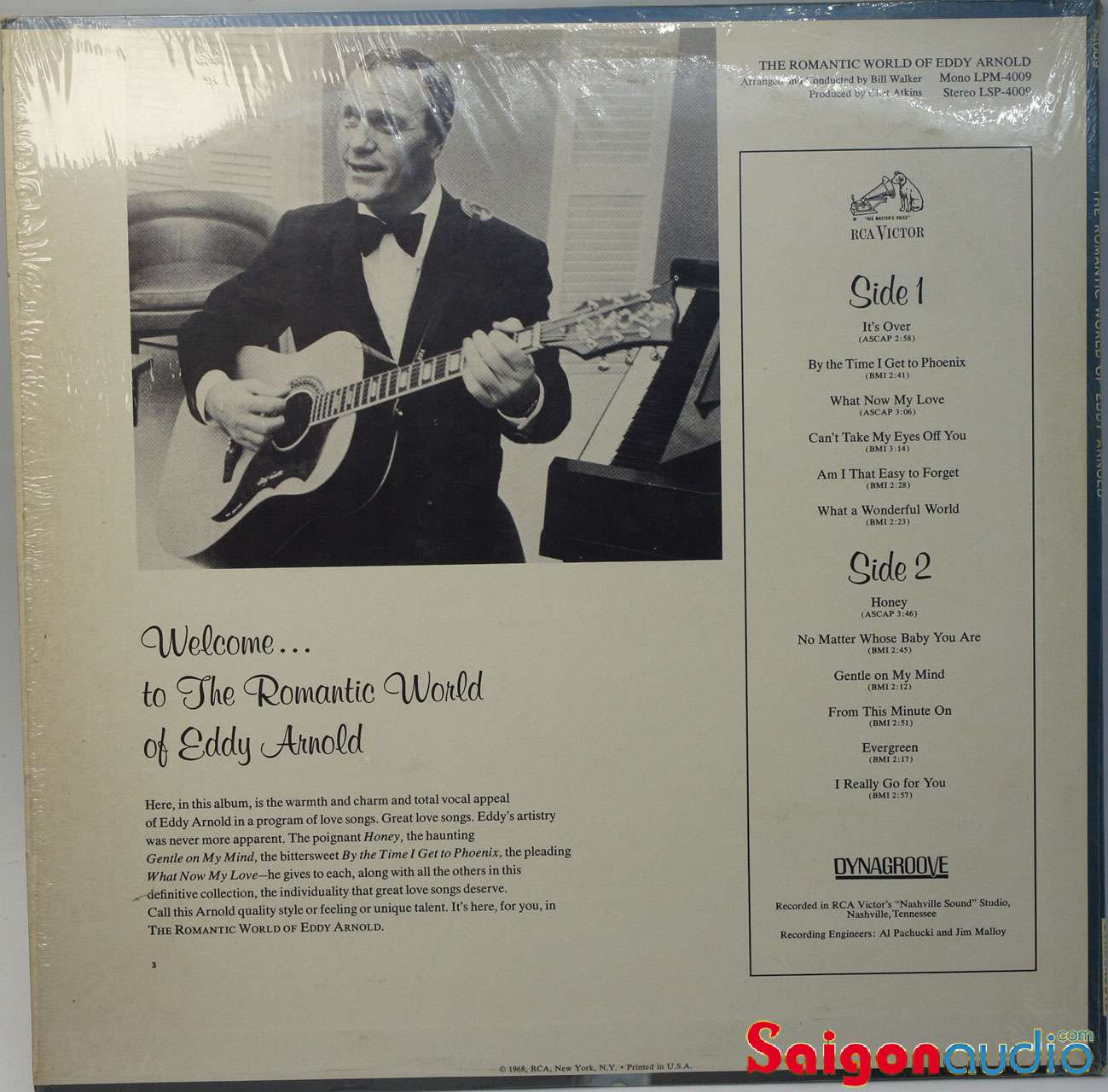 Đĩa than LP Eddy Arnold - The Romantic World Of Eddy Arnold (1968)