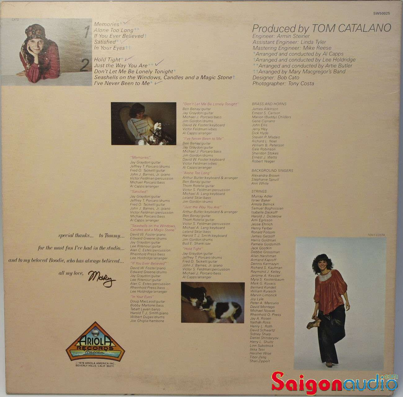 Đĩa than LP Mary MacGregor - In Your Eyes (1978, Vinyl)