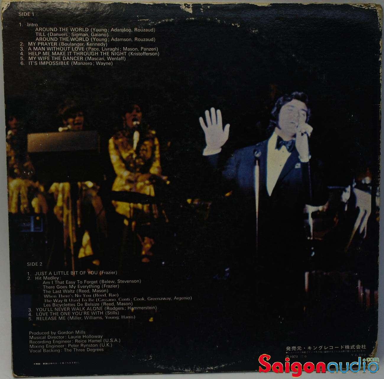 Đĩa than LP Engelbert Humperdinck - Live At The Riviera