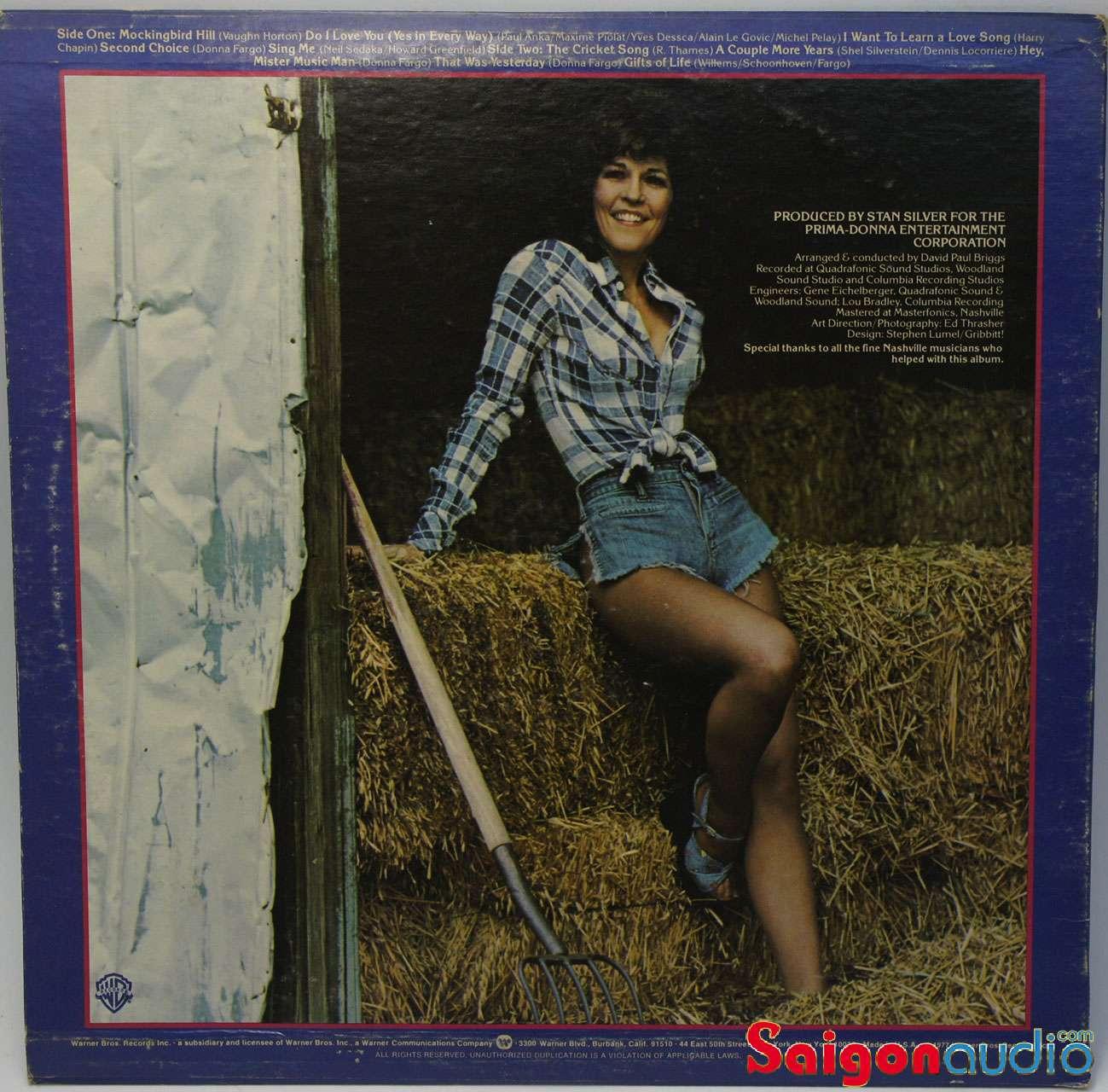 Đĩa than LP Donna Fargo - Fargo Country