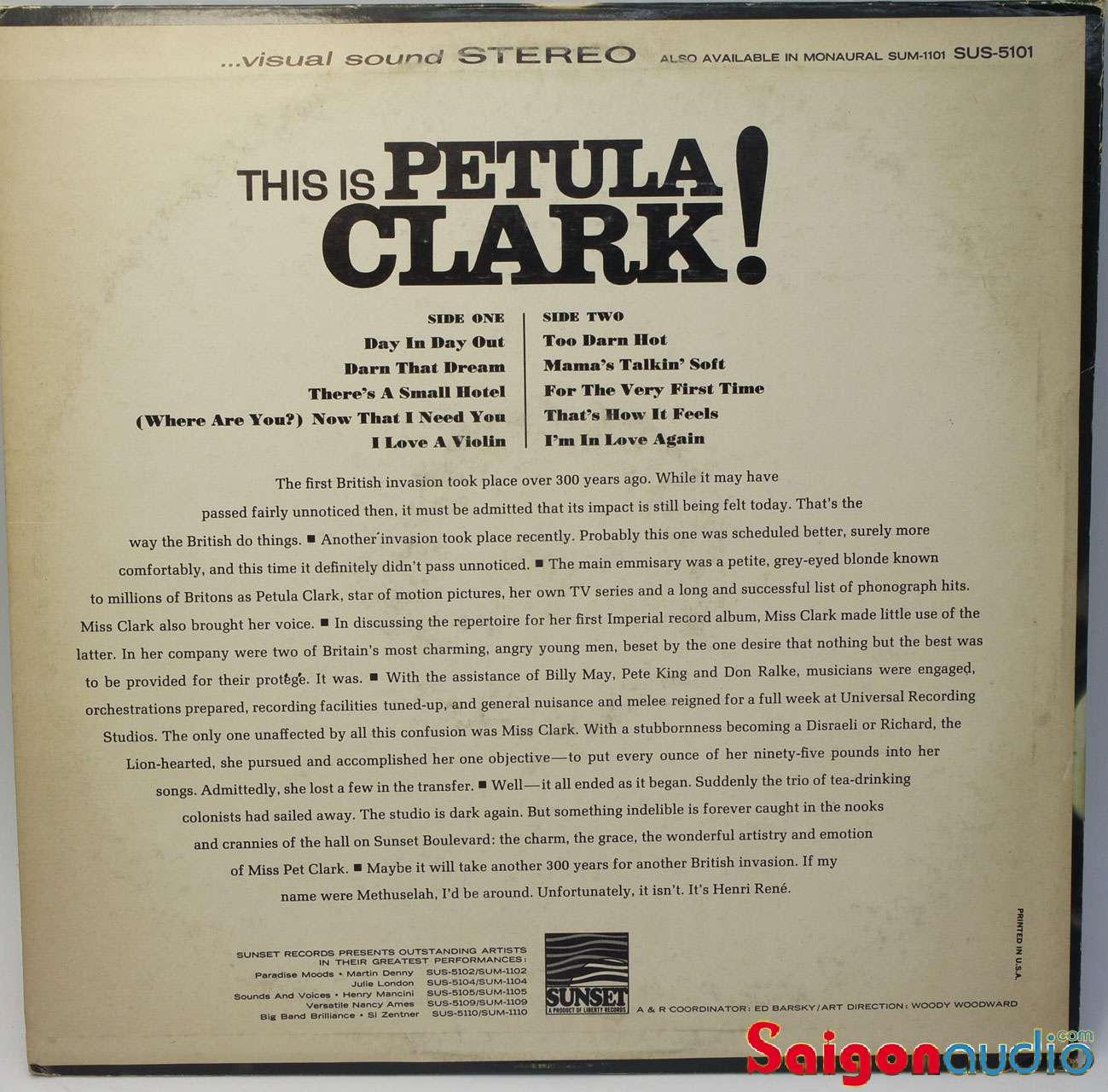 Đĩa than LP Petula Clark - This Is Petula Clark