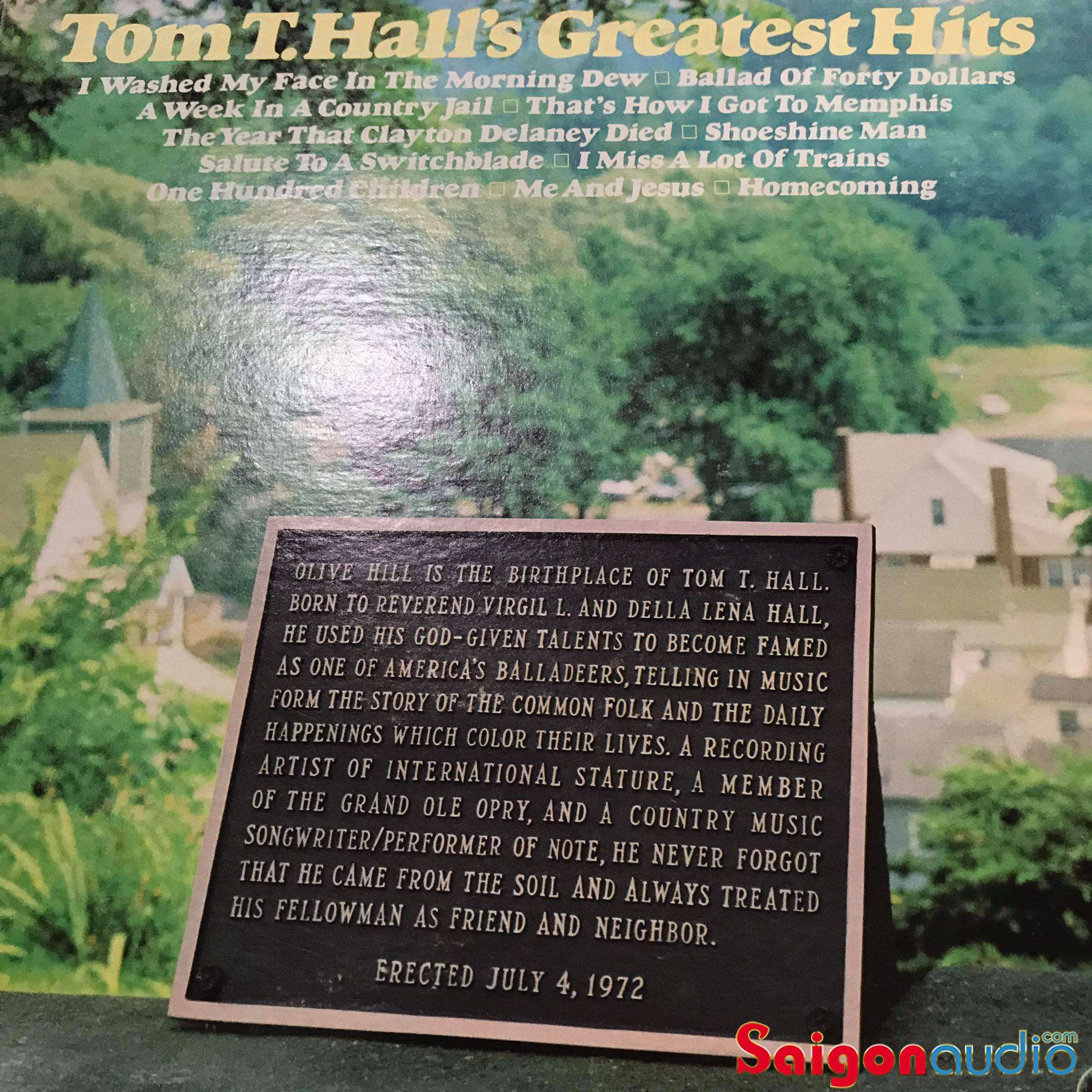 Đĩa than LP Tom T. Hall s Greatest Hits (1972)