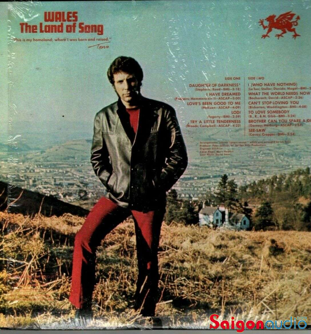 Đĩa than LP Tom Jones - I Who Have Nothing (1970)