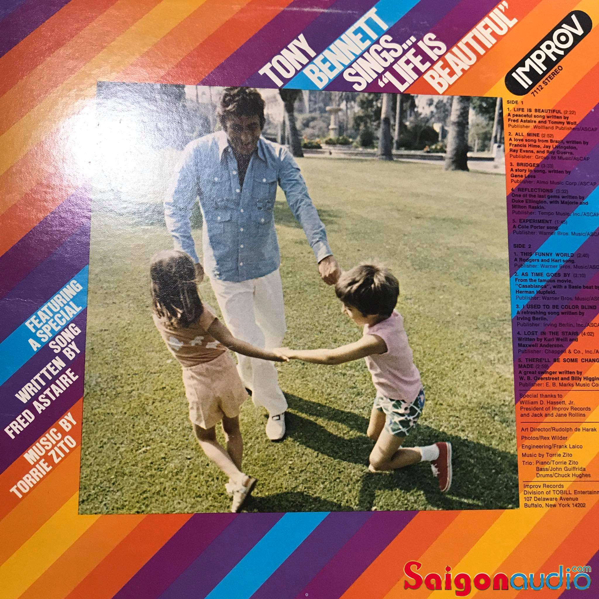 Đĩa than LP Tony Bennett Sings... Life Is Beautiful (1975)