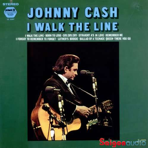 Đĩa than LP Johnny Cash - I Walk The Line (1965)