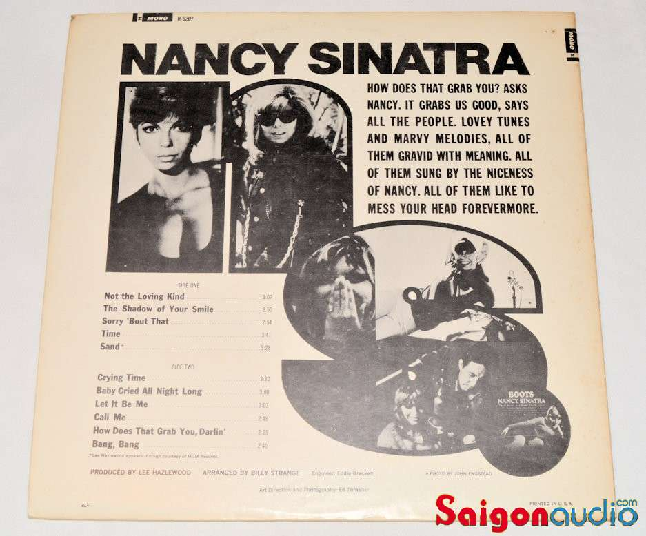 Đĩa than LP Nancy Sinatra - How Does That Grab You?