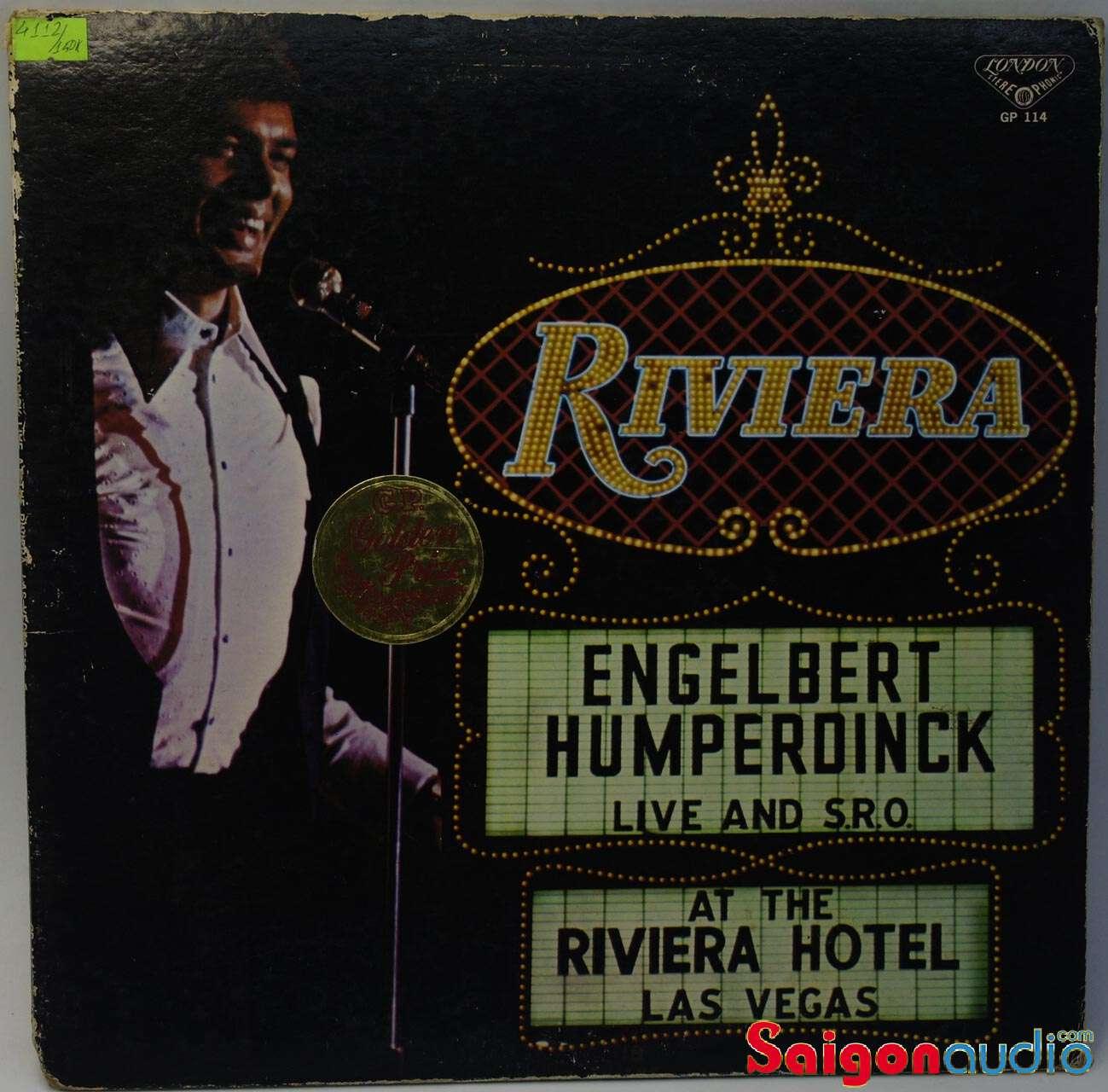 Đĩa than LP Engelbert Humperdinck - Live At The Riviera