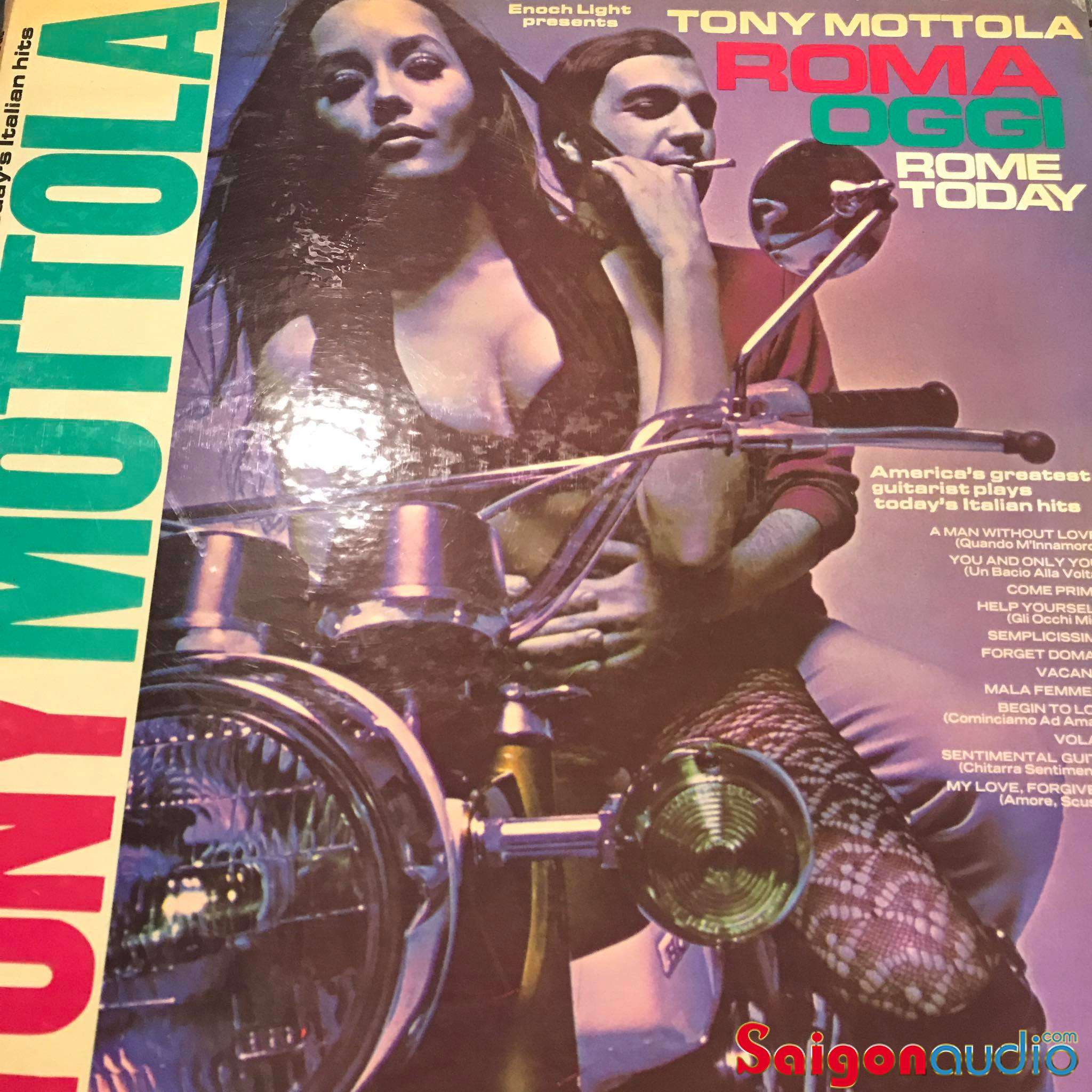 Đĩa than LP Tony Mottola - Roma Oggi - Rome Today