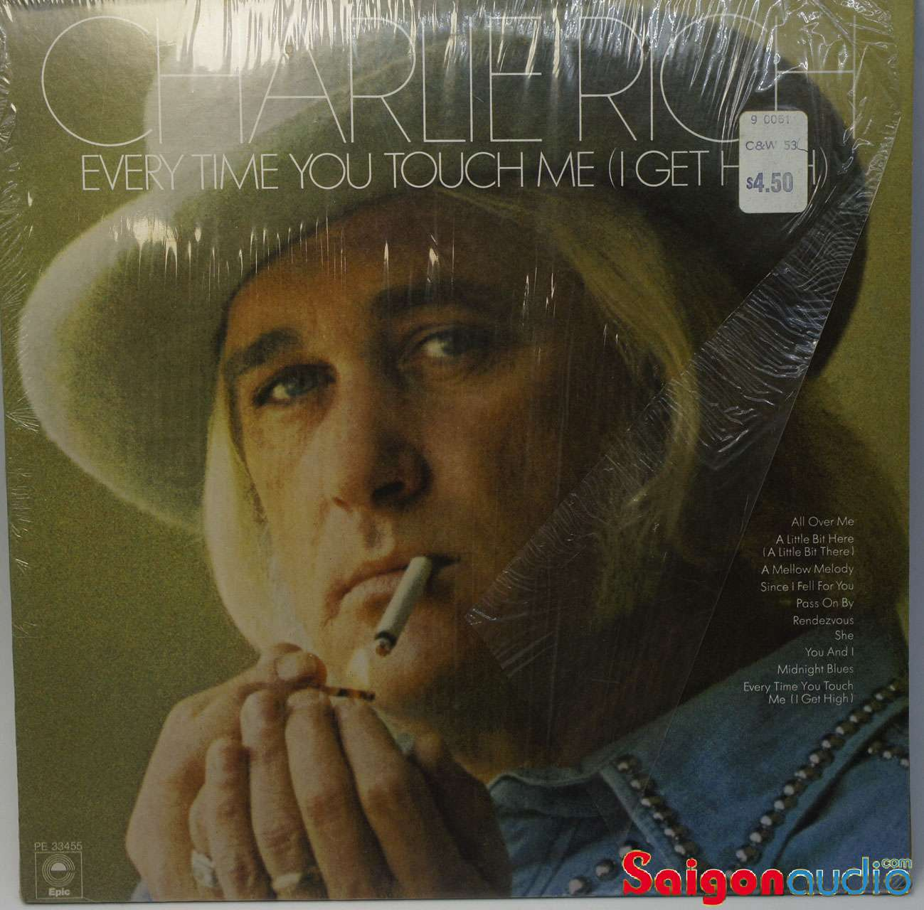 Đĩa than LP Charlie Rich - Every Time You Touch Me (I Get High)