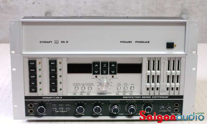 Crown DL-2 Preamp Controller + DL-2 Phono box + SL-2 MC step-up