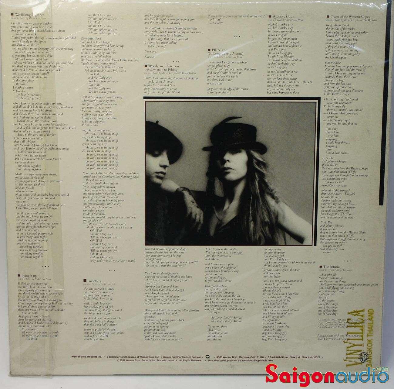 Đĩa than Rickie Lee Jones – Pirates | LP Vinyl Records