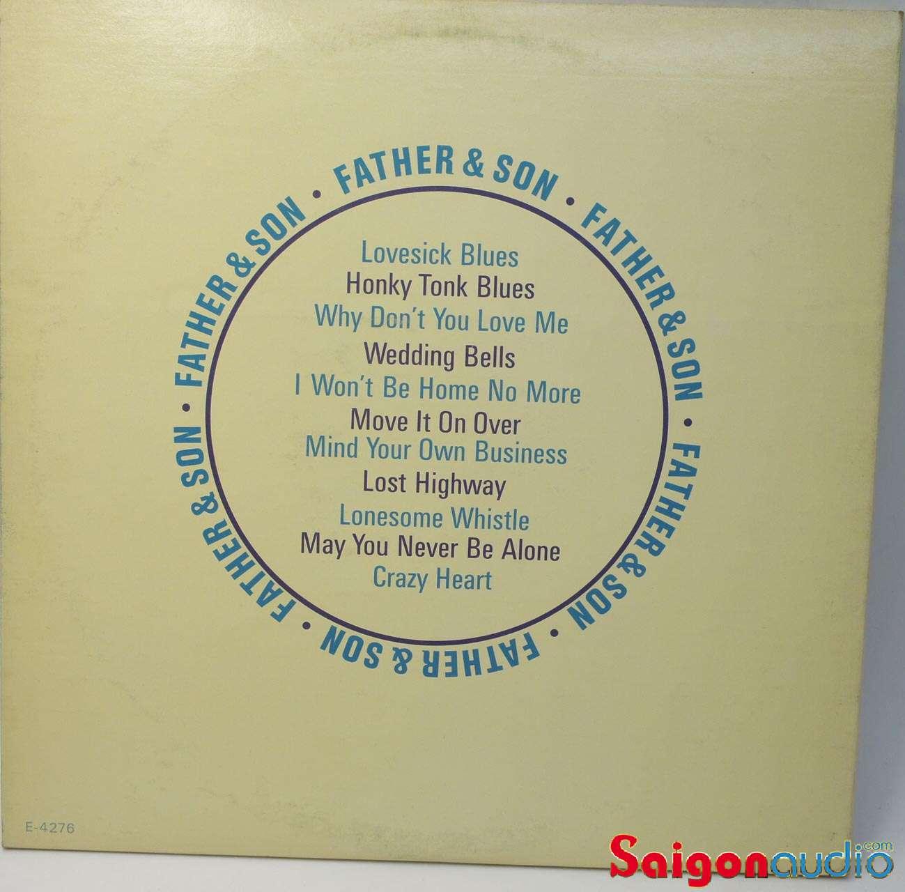 Đĩa than Hank Williams, Sr. & Hank Williams, Jr. – Father & Son, LP Vinyl Records