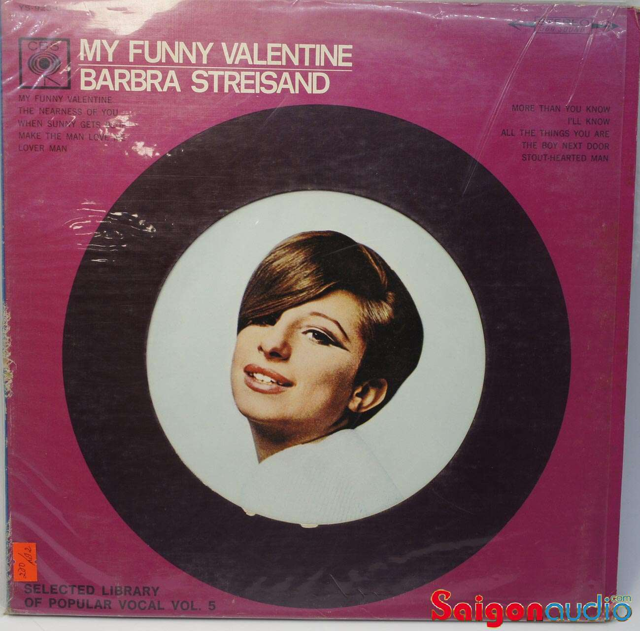 Đĩa than Barbra Streisand My Funny Valentine | LP Vinyl Records