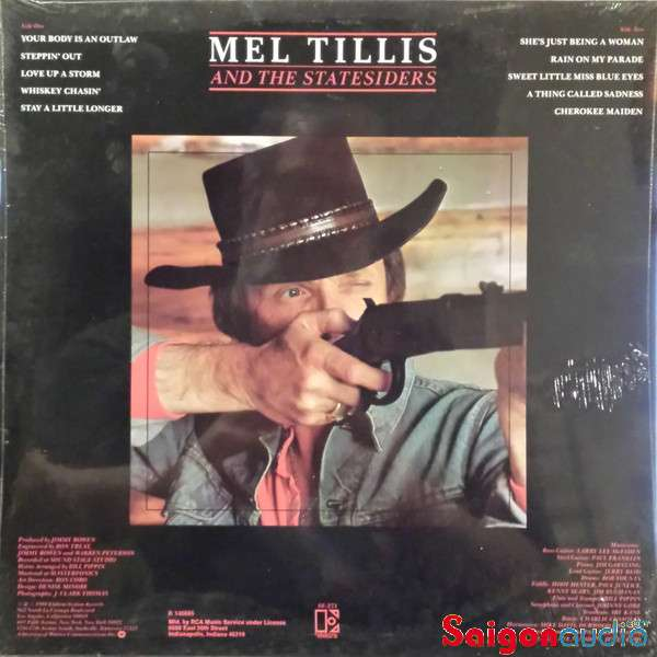 Đĩa than Mel Tillis - Your Body Is An Outlaw | LP Vinyl Records