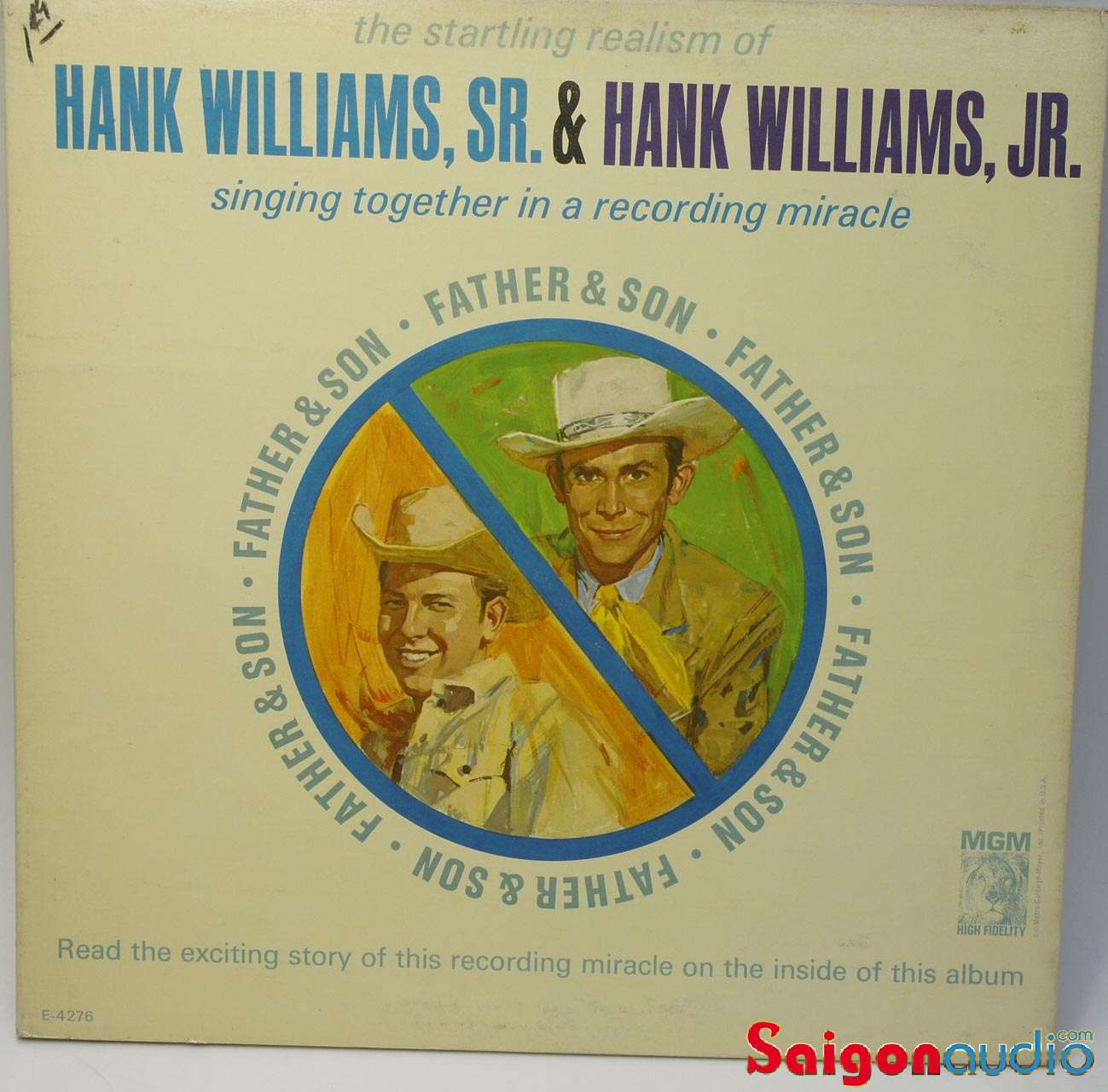 Đĩa than Hank Williams, Sr. & Hank Williams, Jr. ‎– Father & Son, LP Vinyl Records