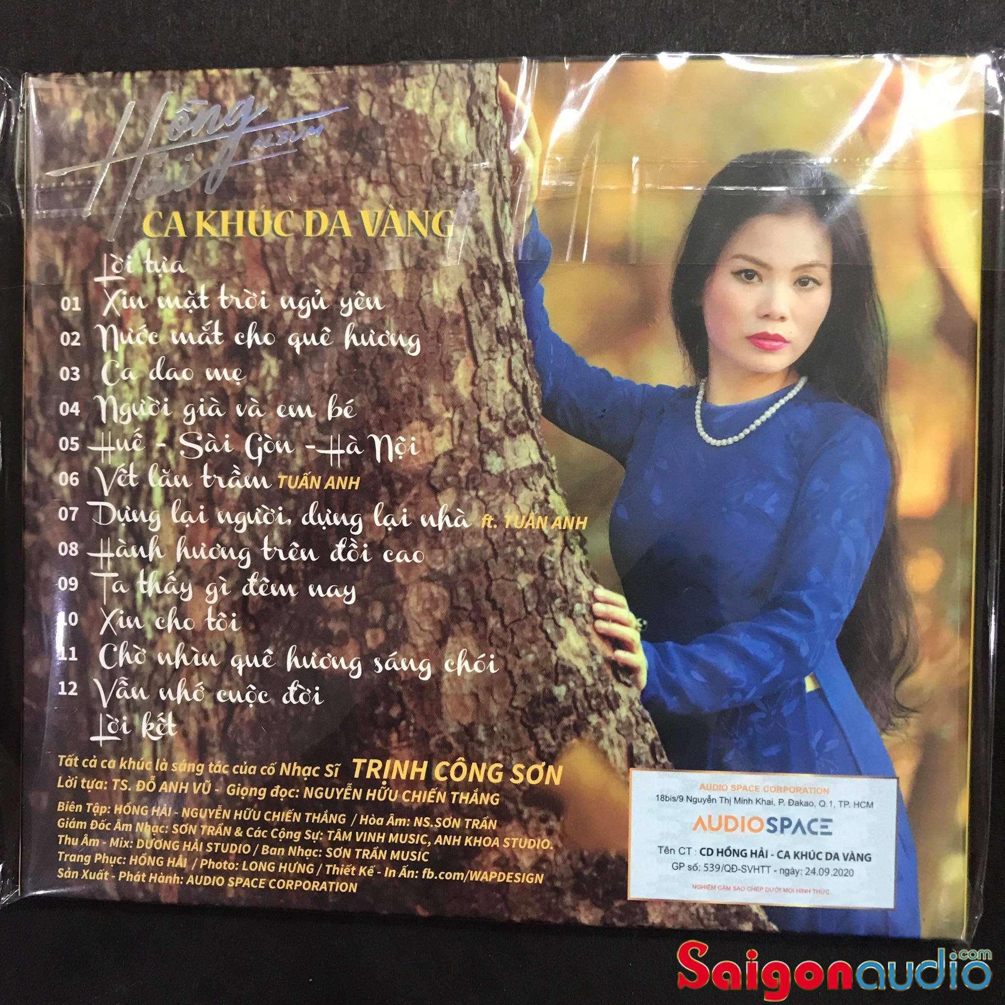 Đĩa CD Ca khúc da vàng - Hồng Hải