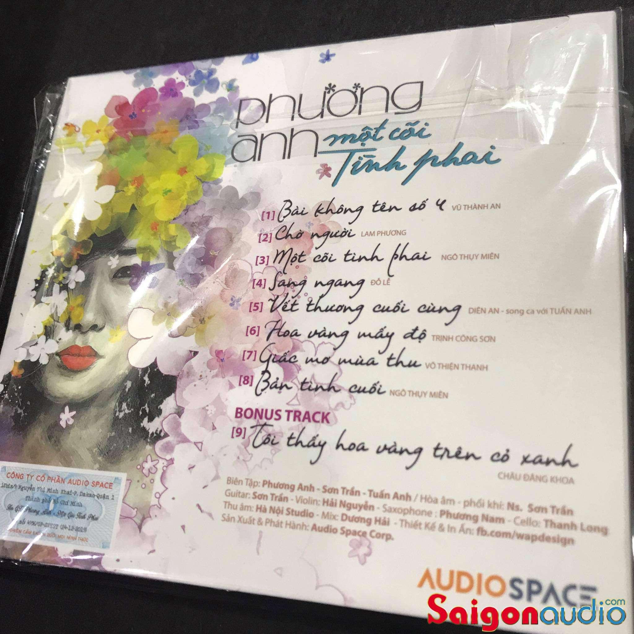 Đĩa CD gốc Một Cõi Tình Phai - Phương Anh (Free ship khi mua 2 đĩa CD cùng hoặc khác loại)