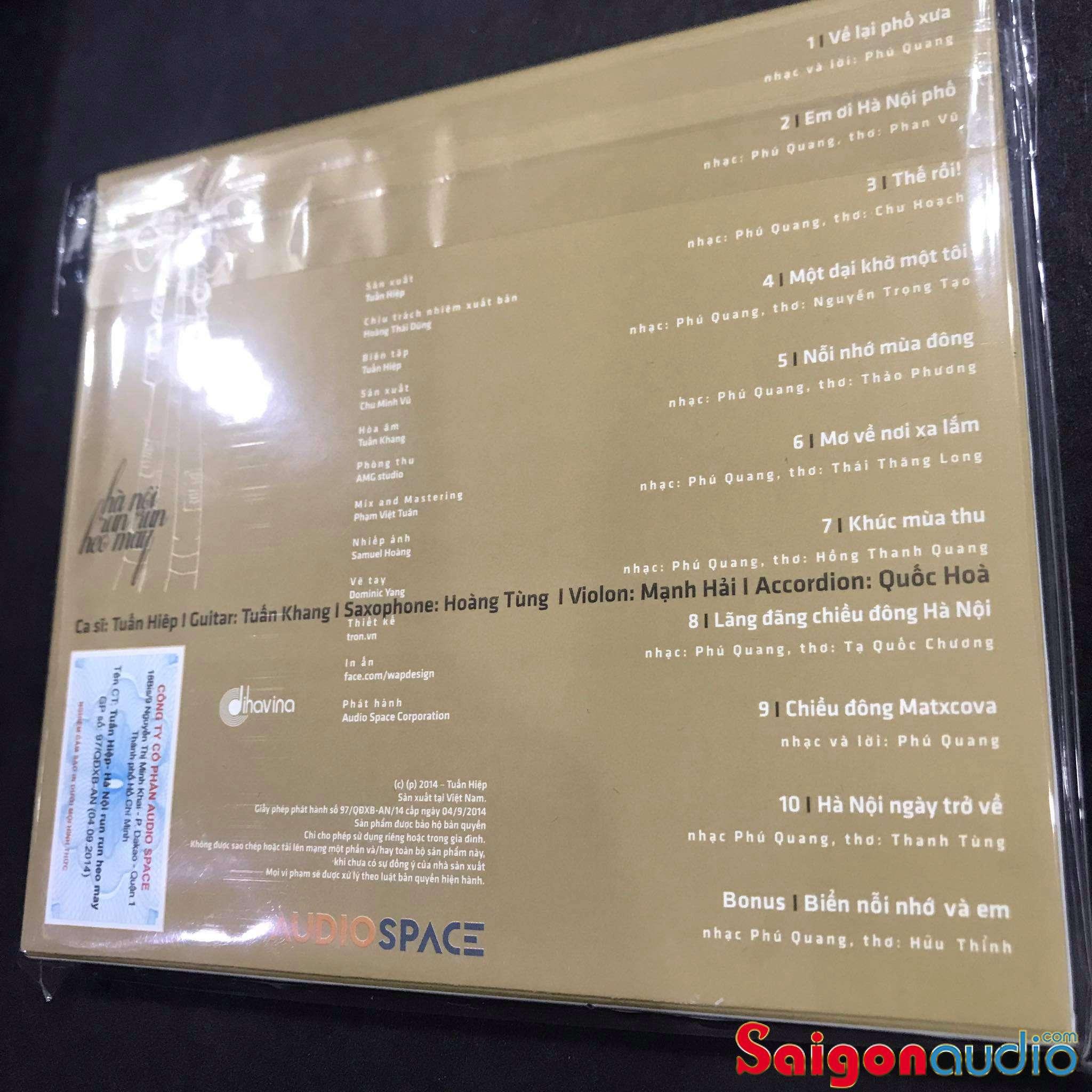 Đĩa CD gốc Hà Nội Run Run Heo May - Tuấn Hiệp (Free ship khi mua 2 đĩa CD cùng hoặc khác loại)