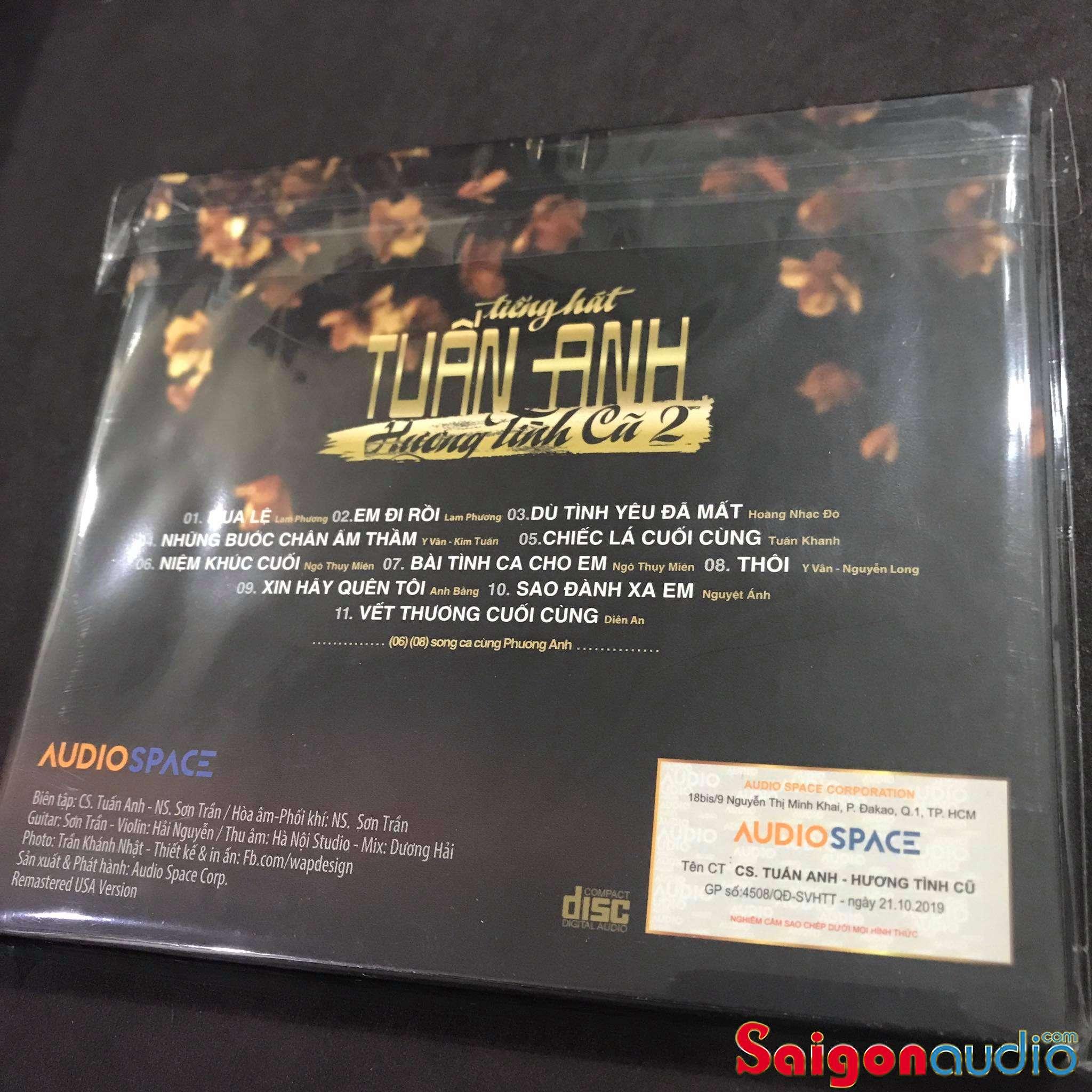 Đĩa CD gốc Tiếng hát Tuấn Anh - Hương Tình Cũ 2 (Free ship khi mua 2 đĩa CD cùng hoặc khác loại)