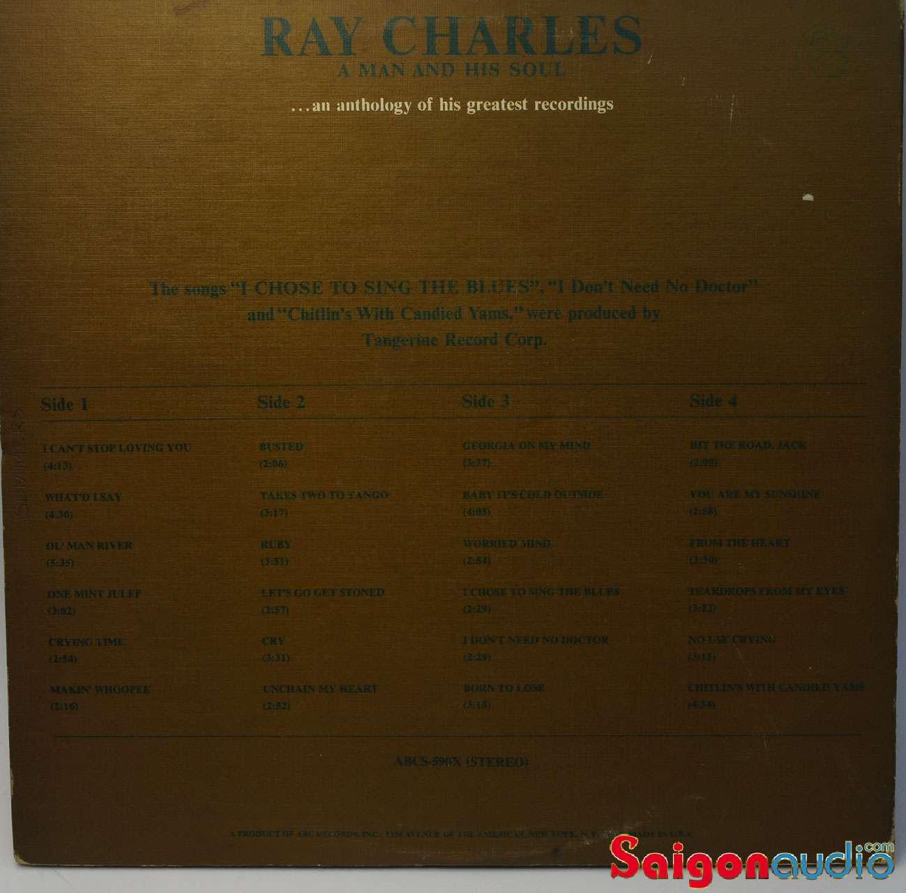 Đĩa than Ray Charles, A Man and His Soul - Vinyl LP Record (2 LP)