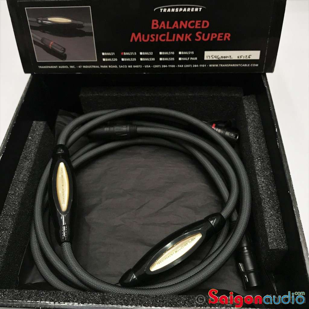 Dây Balance XLR Transparent SUPER MM2, Made in USA | 1m x 2