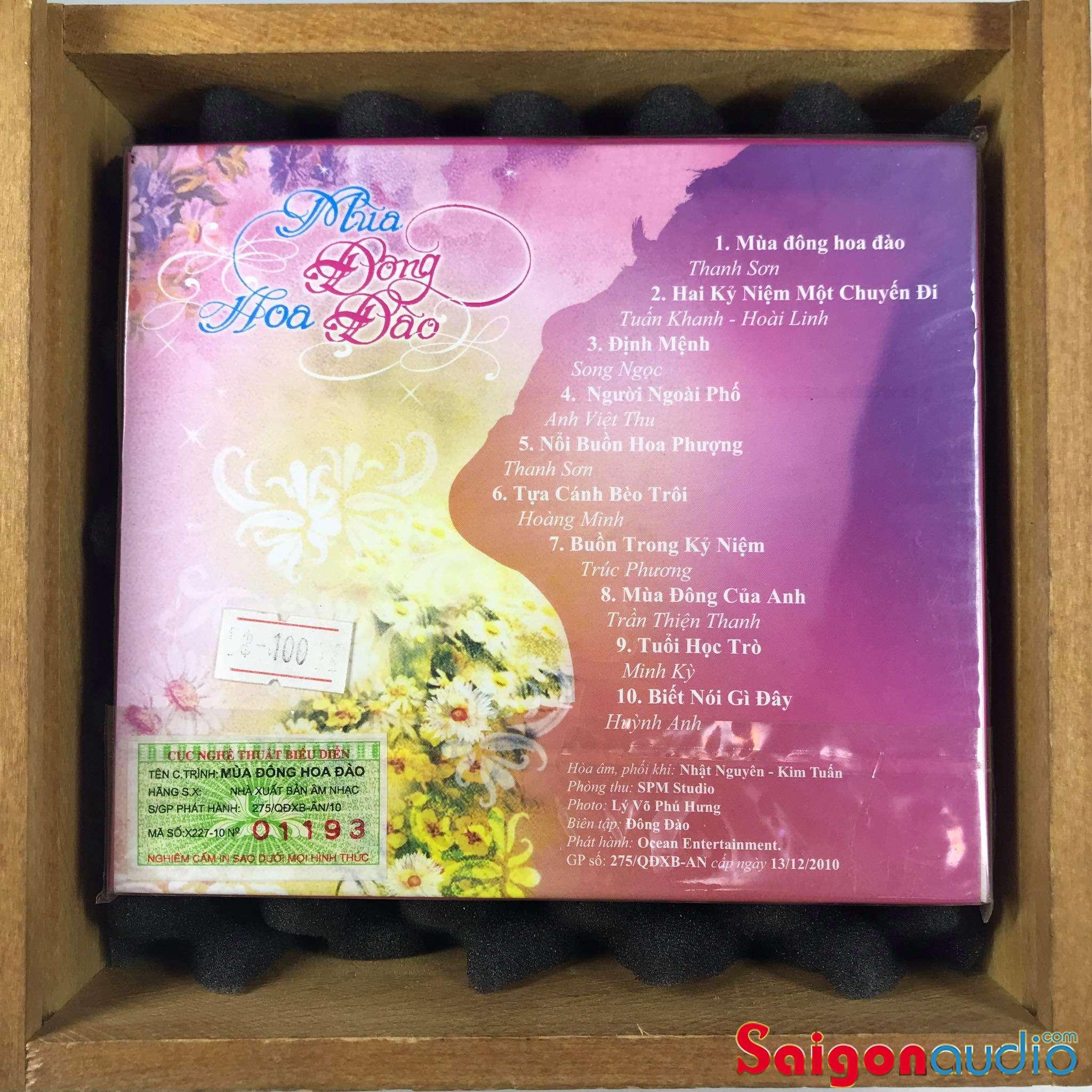 Đĩa CD nhạc gốc Mùa Đông Hoa Đào (Free ship khi mua 2 đĩa CD cùng hoặc khác loại)