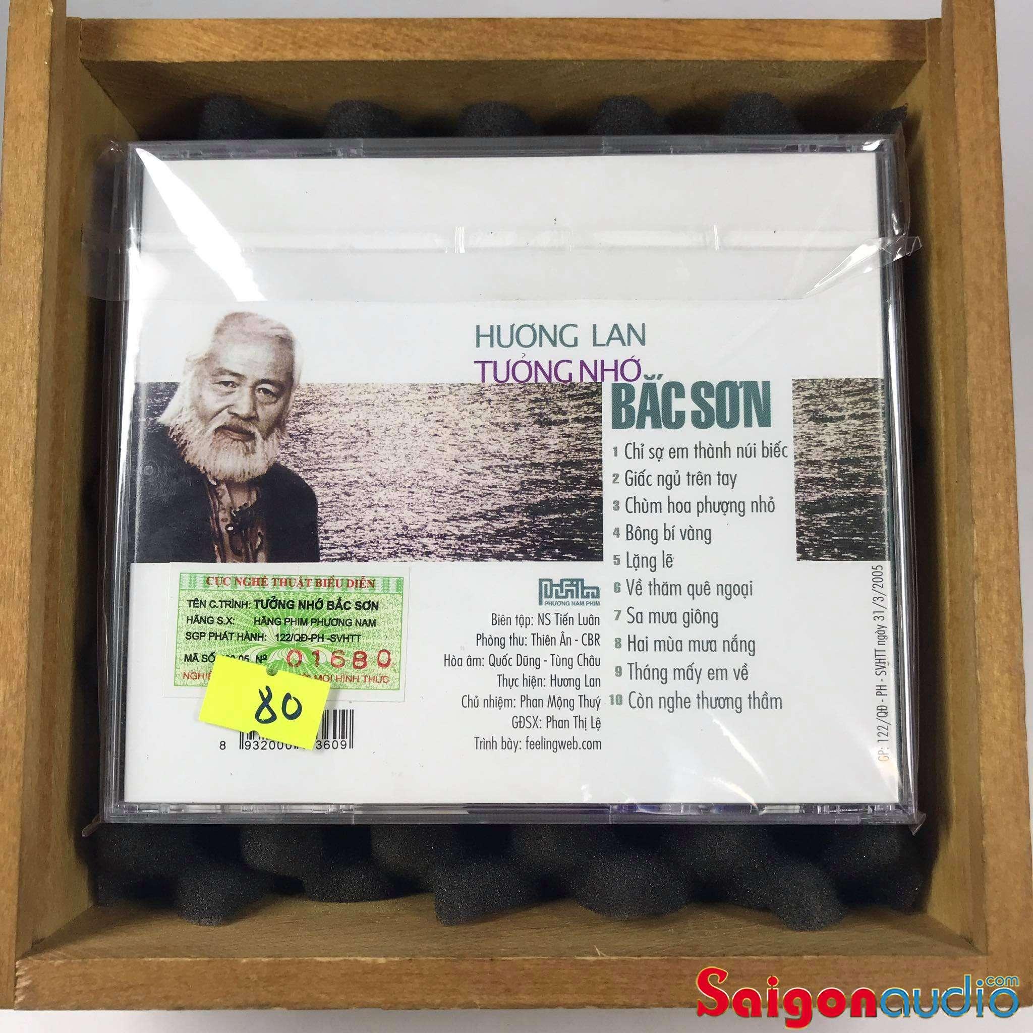 Đĩa CD nhạc gốc Hương Lan - Tưởng Nhớ NS Bắc Son