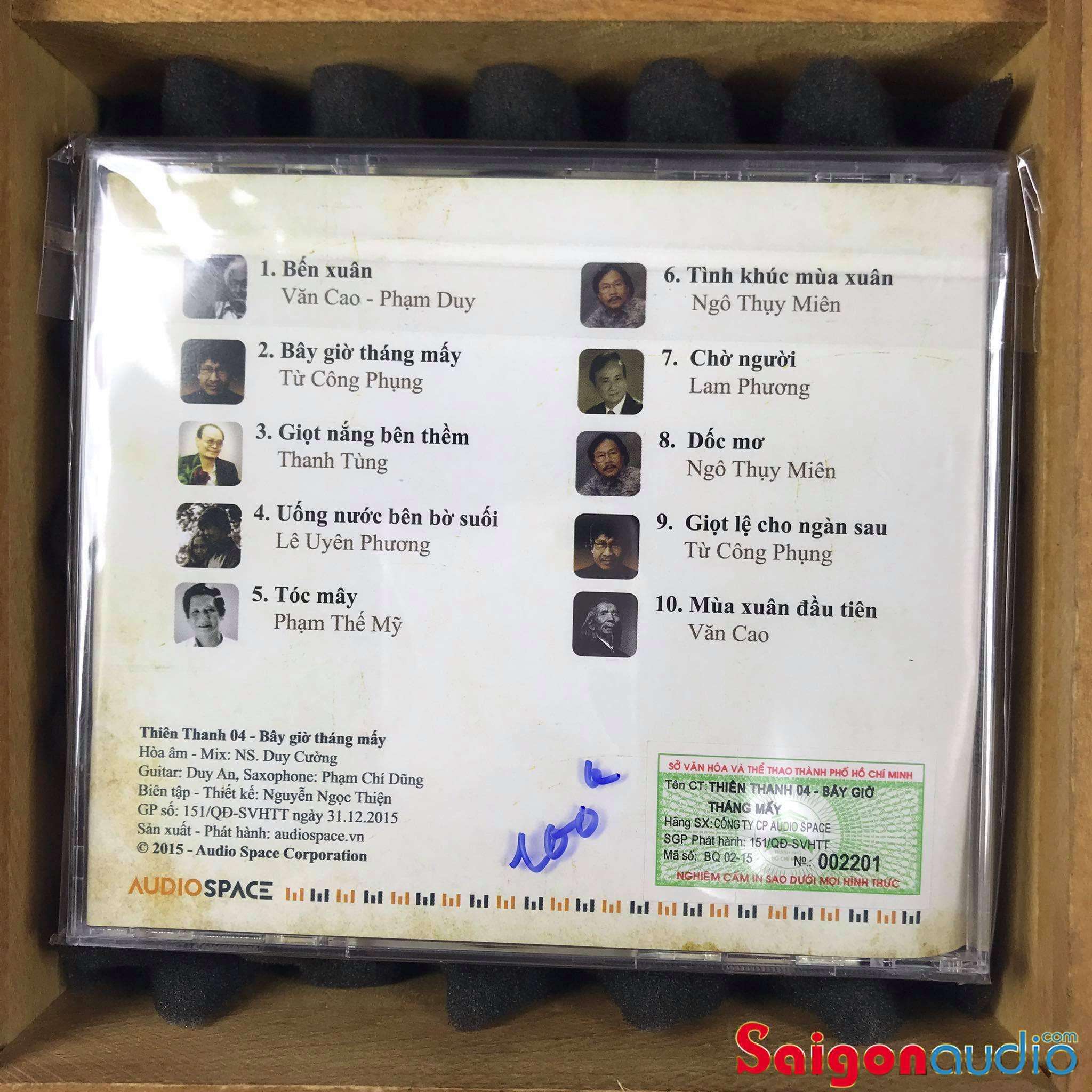 Đĩa CD nhạc gốc Hoà Âm Duy Cường - Bây Giờ Tháng Mấy (Free ship khi mua 2 đĩa CD cùng hoặc khác loại)