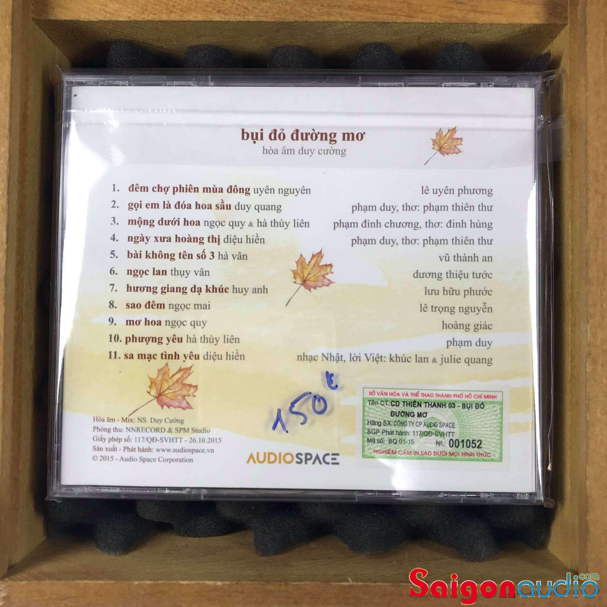 Đĩa CD nhạc gốc Hoà Âm Duy Cường - Bụi Đỏ Đường Mơ (Free ship khi mua 2 đĩa CD cùng hoặc khác loại)