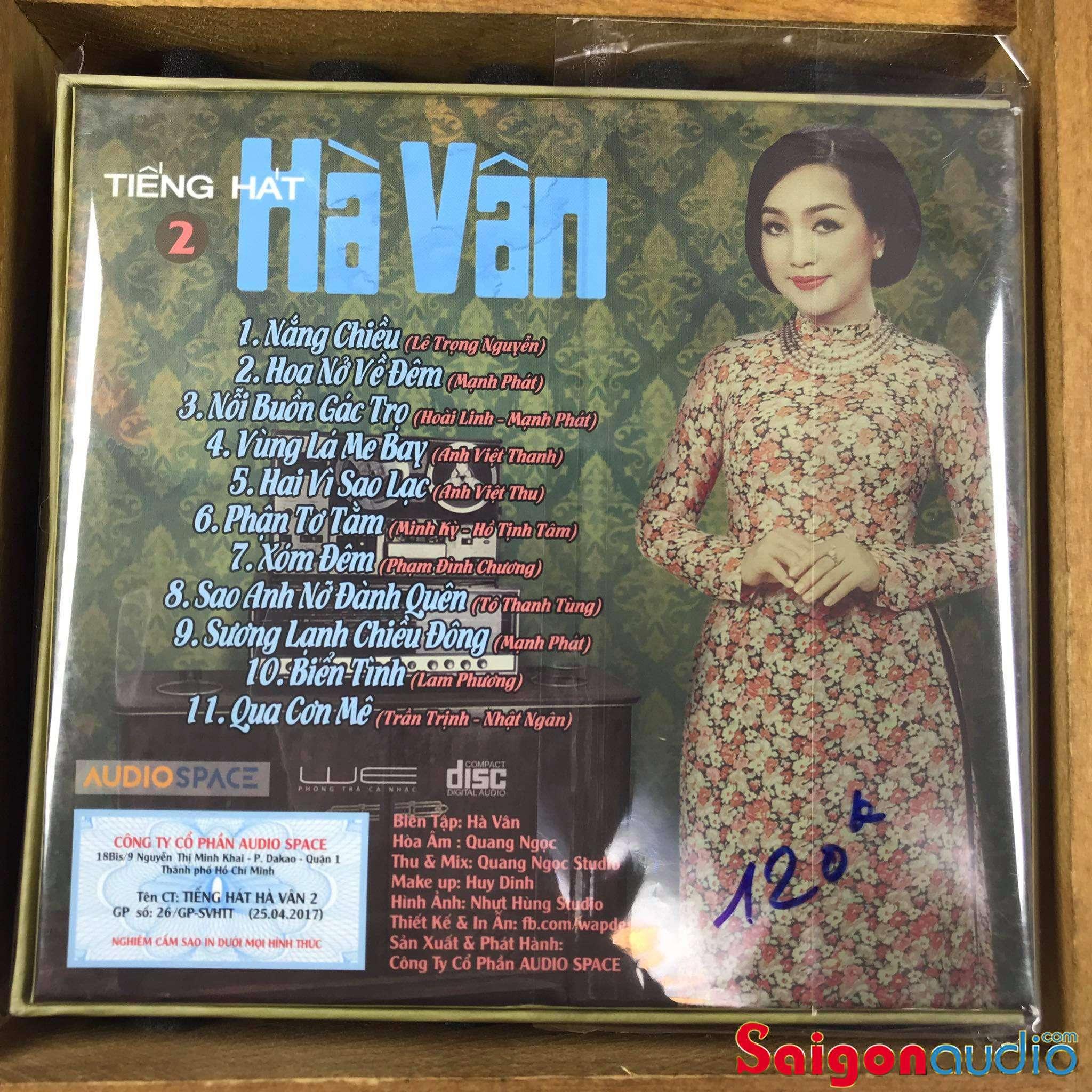 Đĩa CD nhạc gốc Tiếng Hát Hà Vân 2 (Free ship khi mua 2 đĩa CD cùng hoặc khác loại)