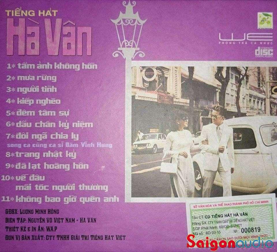 Đĩa CD nhạc gốc Tiếng Hát Hà Vân - Song Ca Đàm Vĩnh Hưng (Free ship khi mua 2 đĩa CD cùng hoặc khác loại)