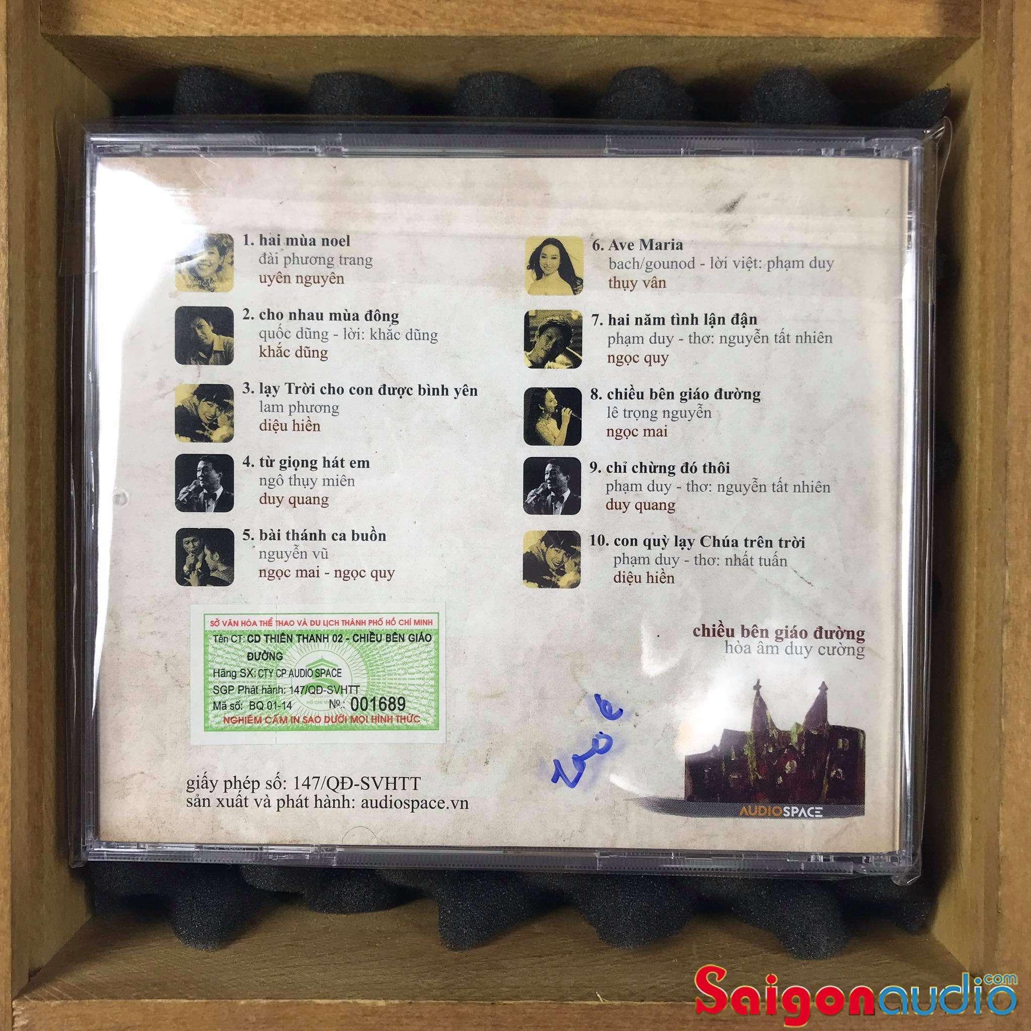 Đĩa CD nhạc gốc Hoà Âm Duy Cường - Chiều Bên Giáo Đường (Free ship khi mua 2 đĩa CD cùng hoặc khác loại)