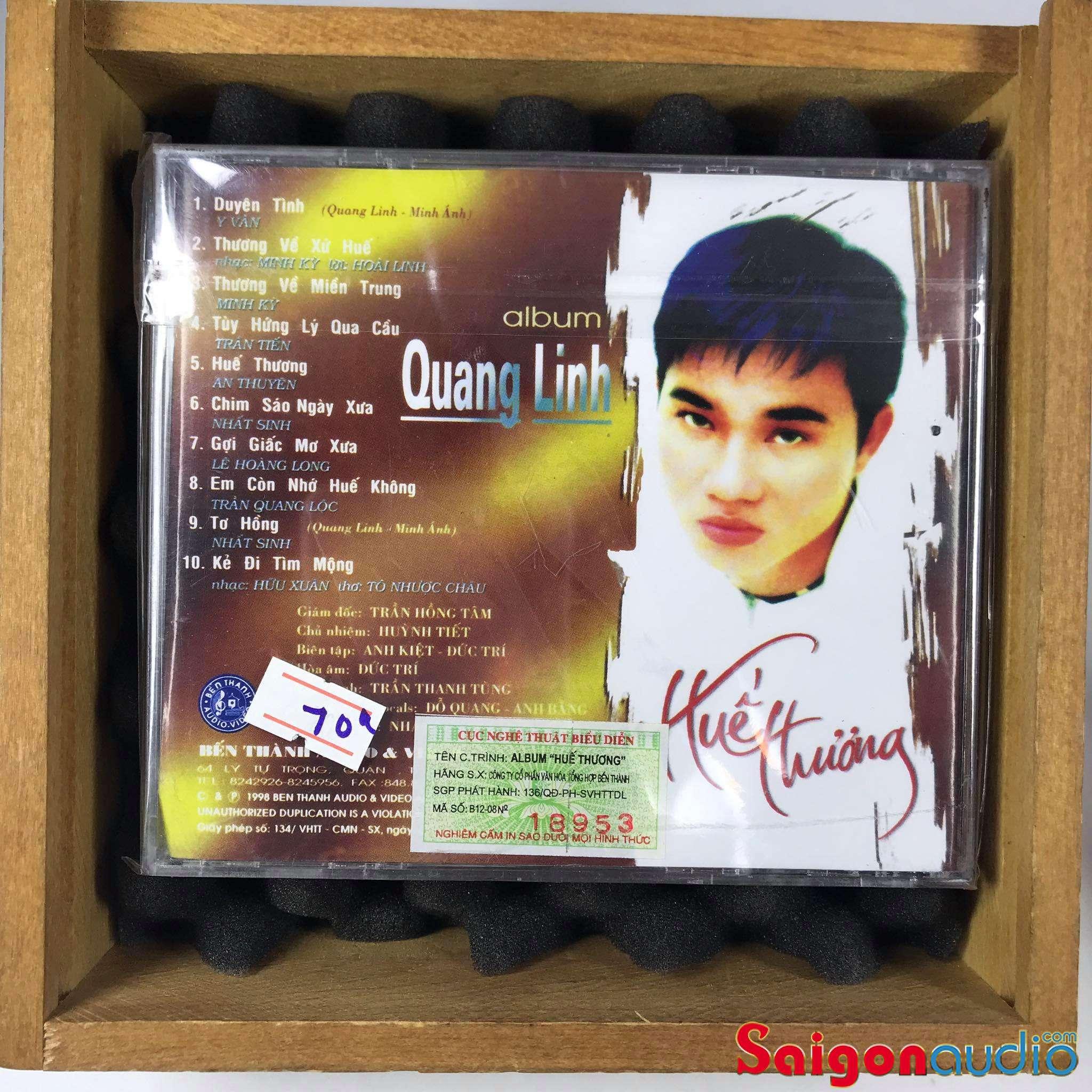 Đĩa CD gốc Quang Linh - Huế Thương