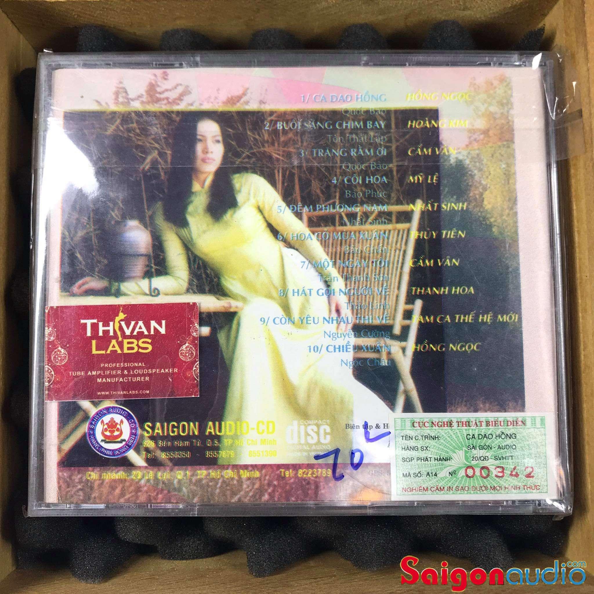 Đĩa CD nhạc gốc Ca Dao Hồng