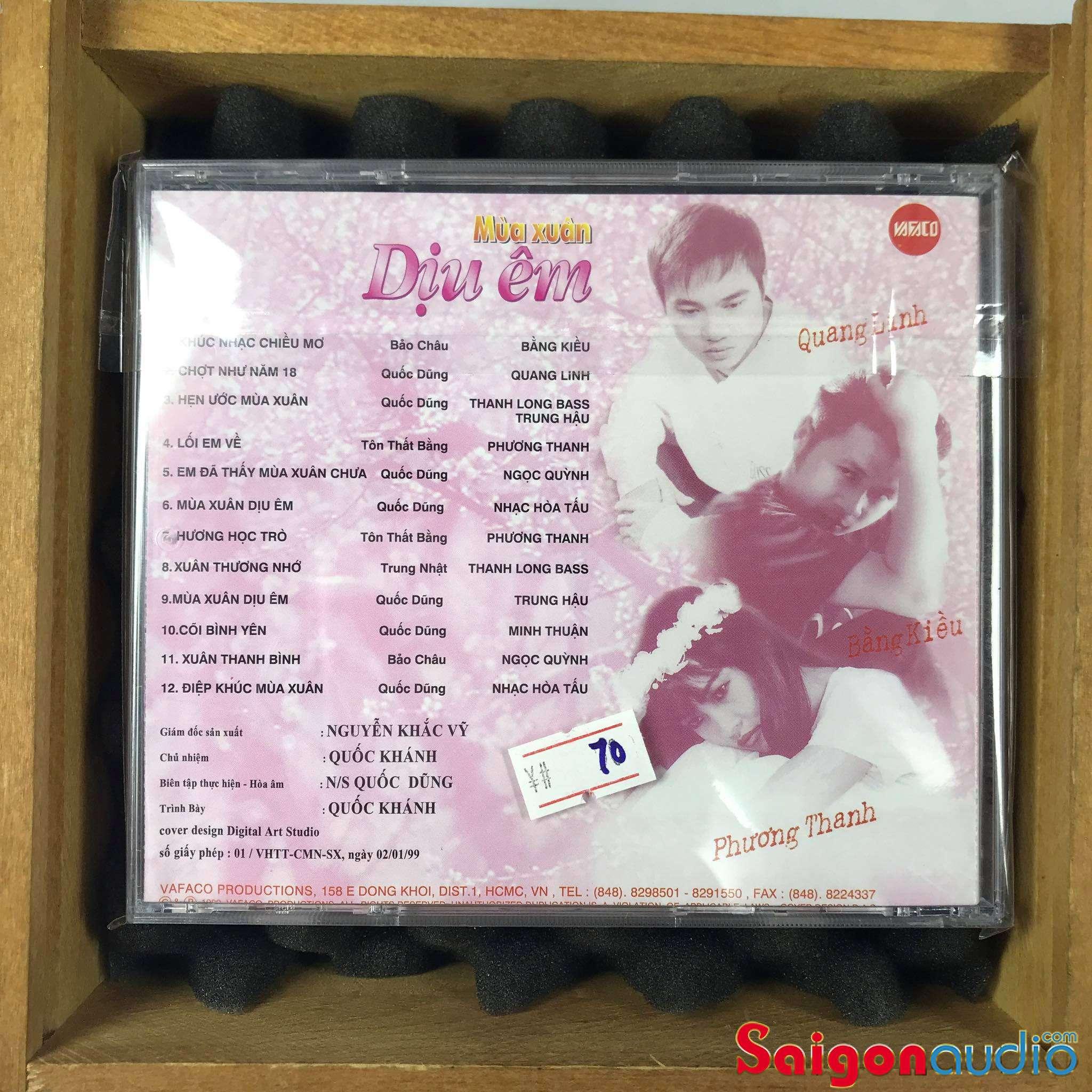 Đĩa CD gốc Mùa Xuân Dịu Êm