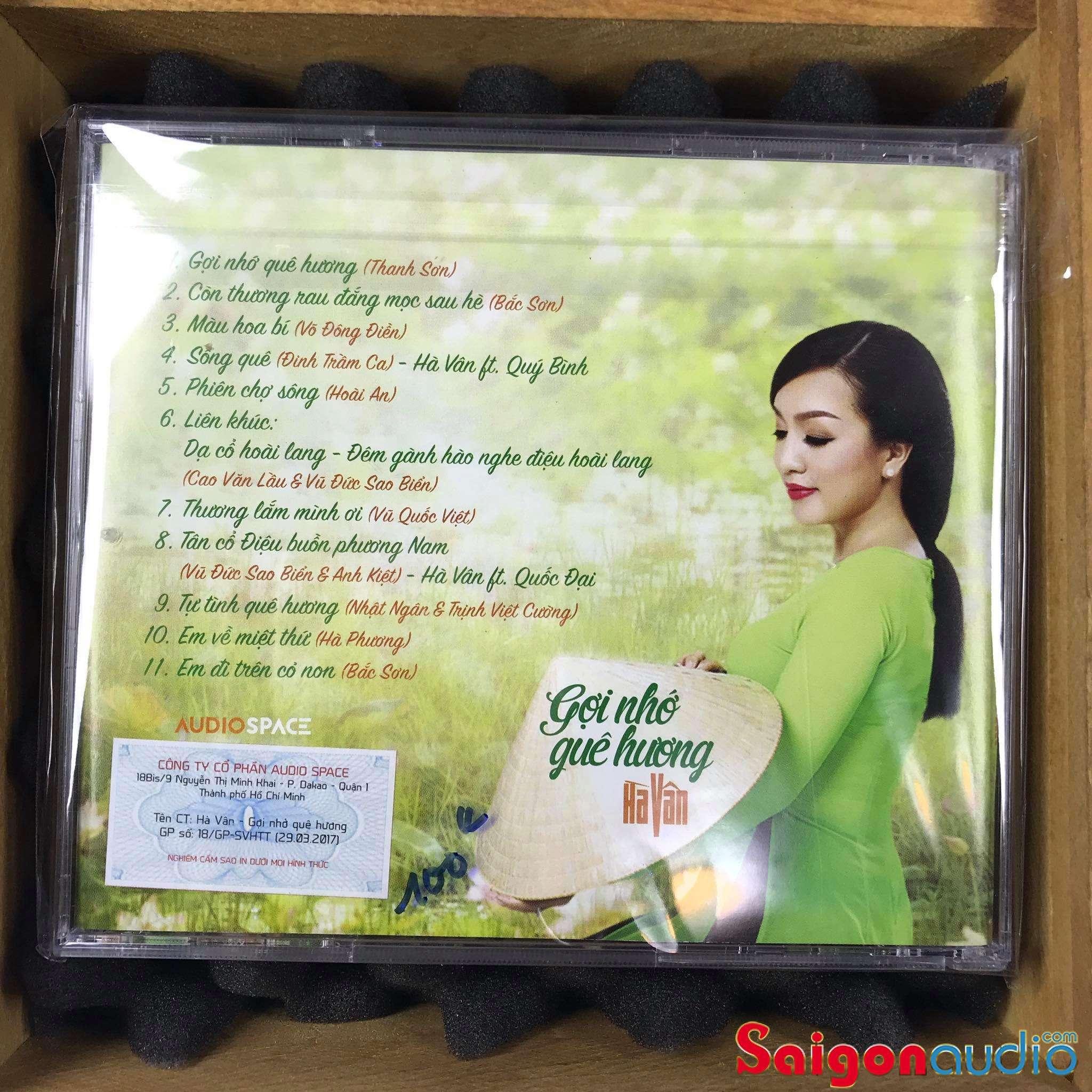 Đĩa CD nhạc gốc Tiếng Hát Hà Vân - Gợi Nhớ Quê Hương (Free ship khi mua 2 đĩa CD cùng hoặc khác loại)