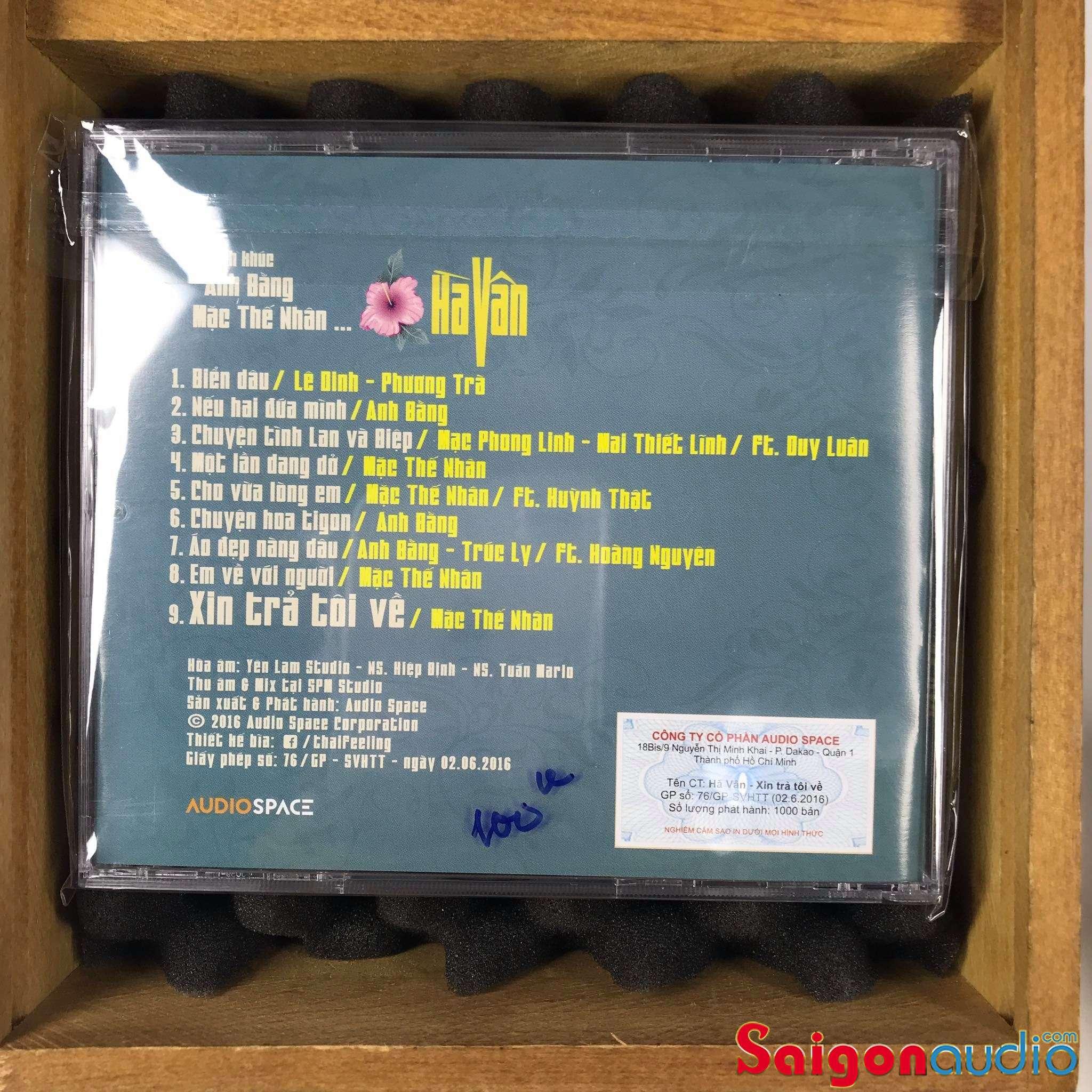 Đĩa CD gốc Hà Vân - Tình Khúc Anh Bằng - Mạc Thế Nhân (Free ship khi mua 2 đĩa CD cùng hoặc khác loại)