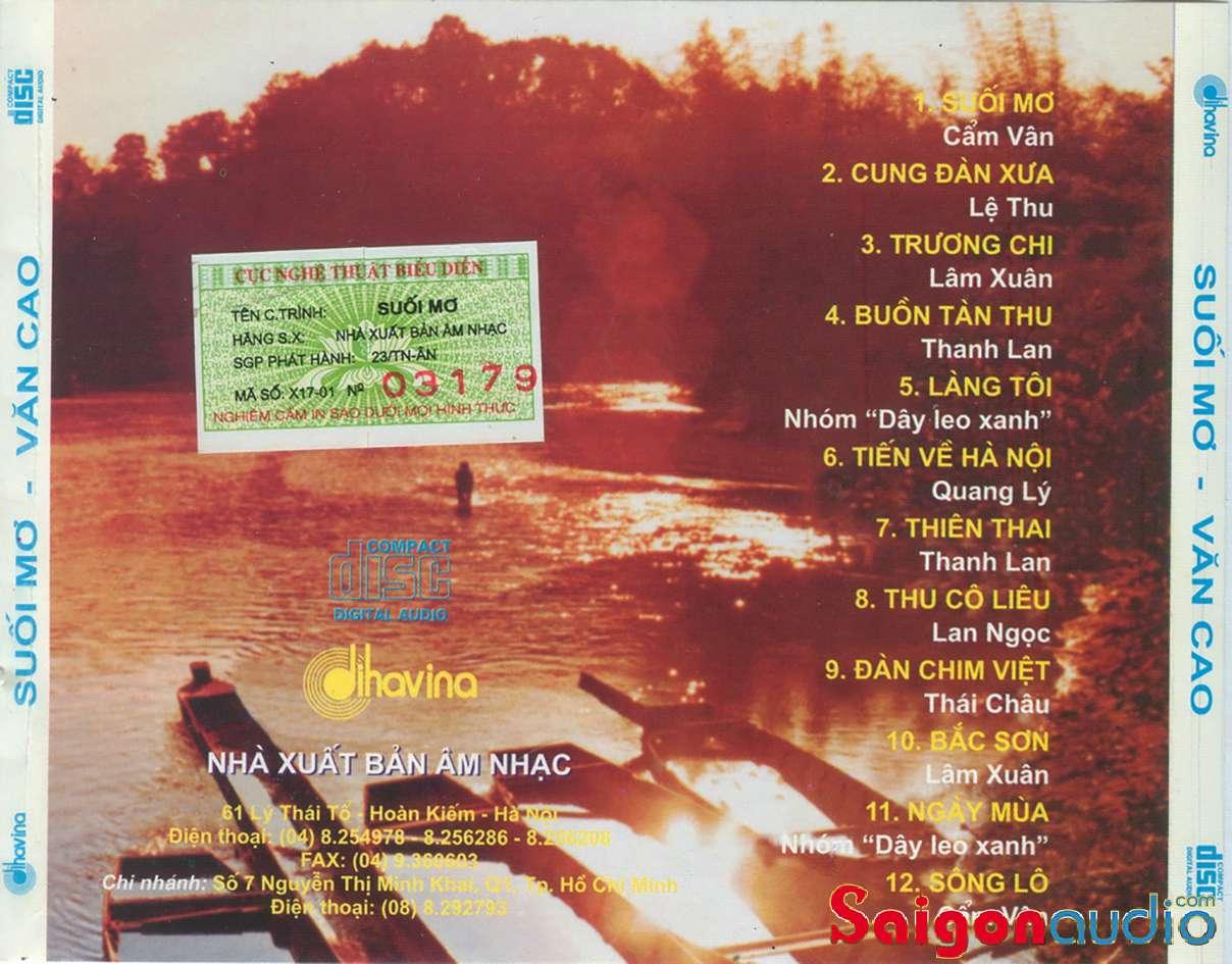 Đĩa CD nhạc gốc Văn Cao - Suối Mơ