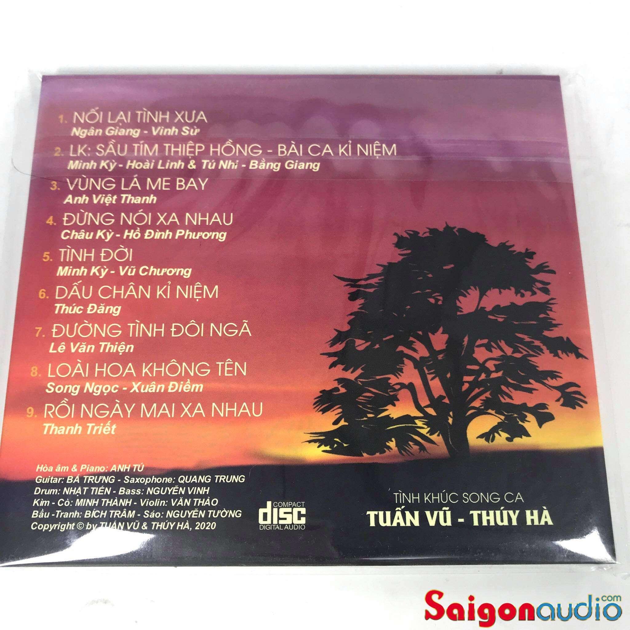 Đĩa CD nhạc gốc Tuấn Vũ - Thuý Hà - Tình Khúc Song Ca (Free ship khi mua 2 đĩa CD cùng hoặc khác loại)